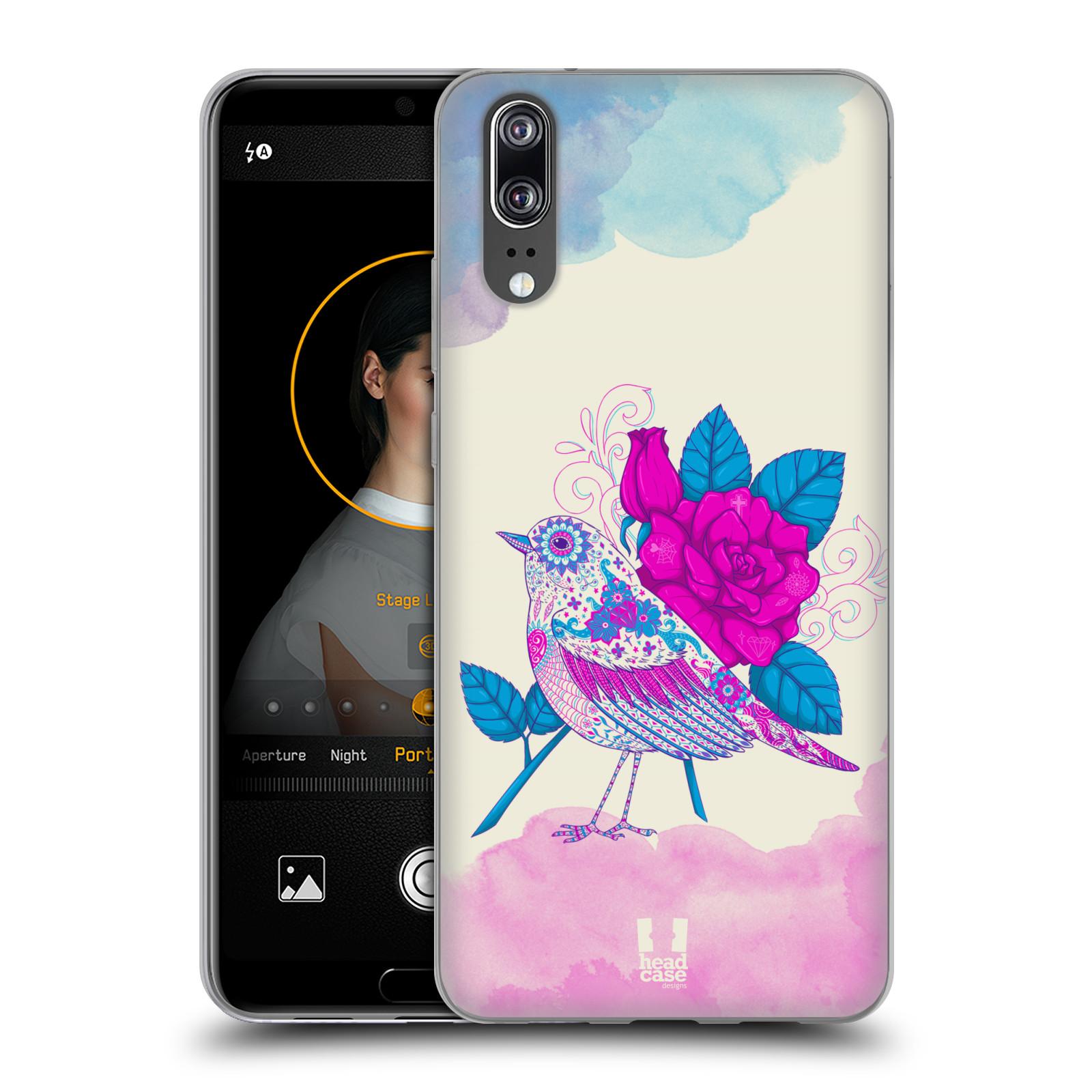 Silikonové pouzdro na mobil Huawei P20 - Head Case - PTÁČEK FUCHSIA