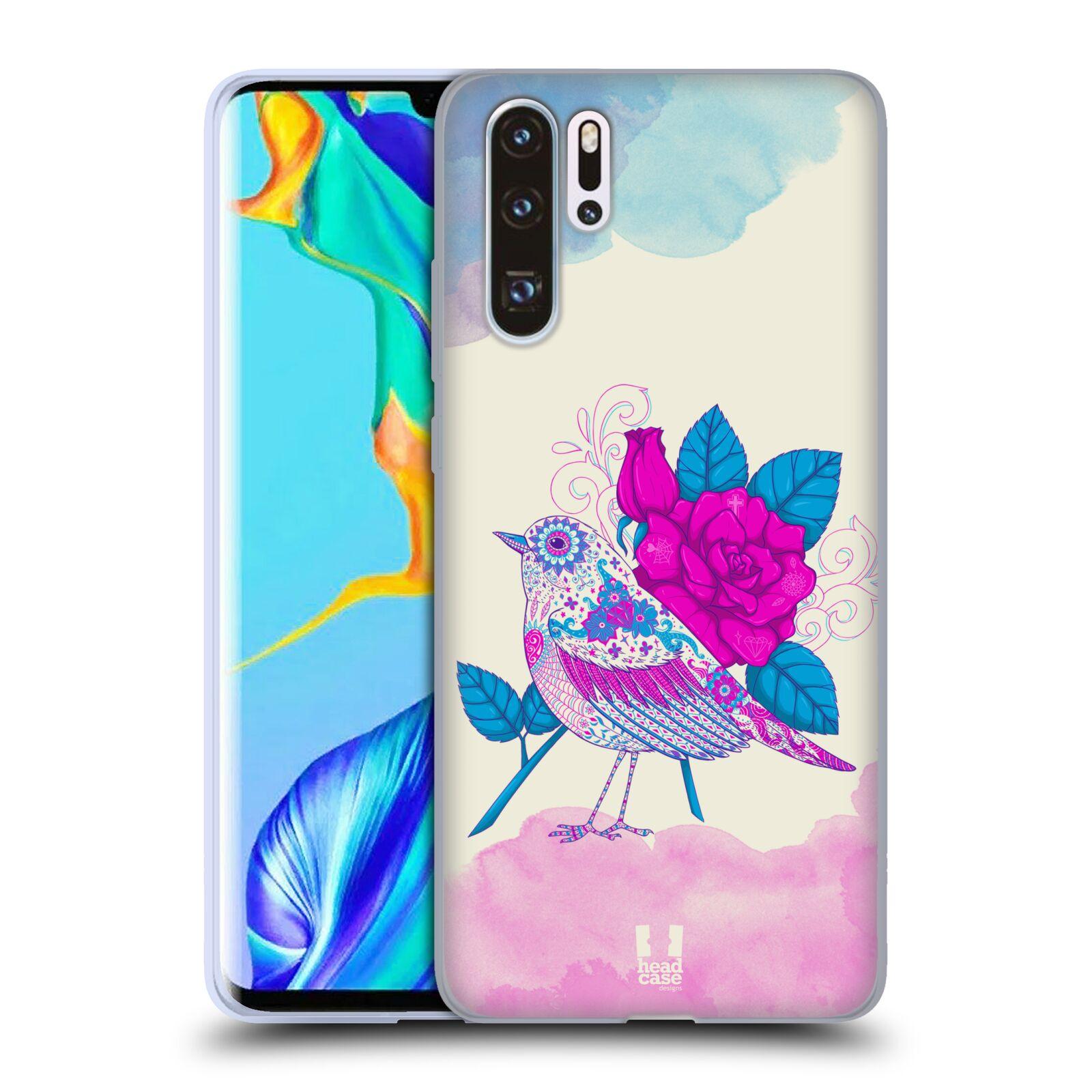 Silikonové pouzdro na mobil Huawei P30 Pro - Head Case - PTÁČEK FUCHSIA