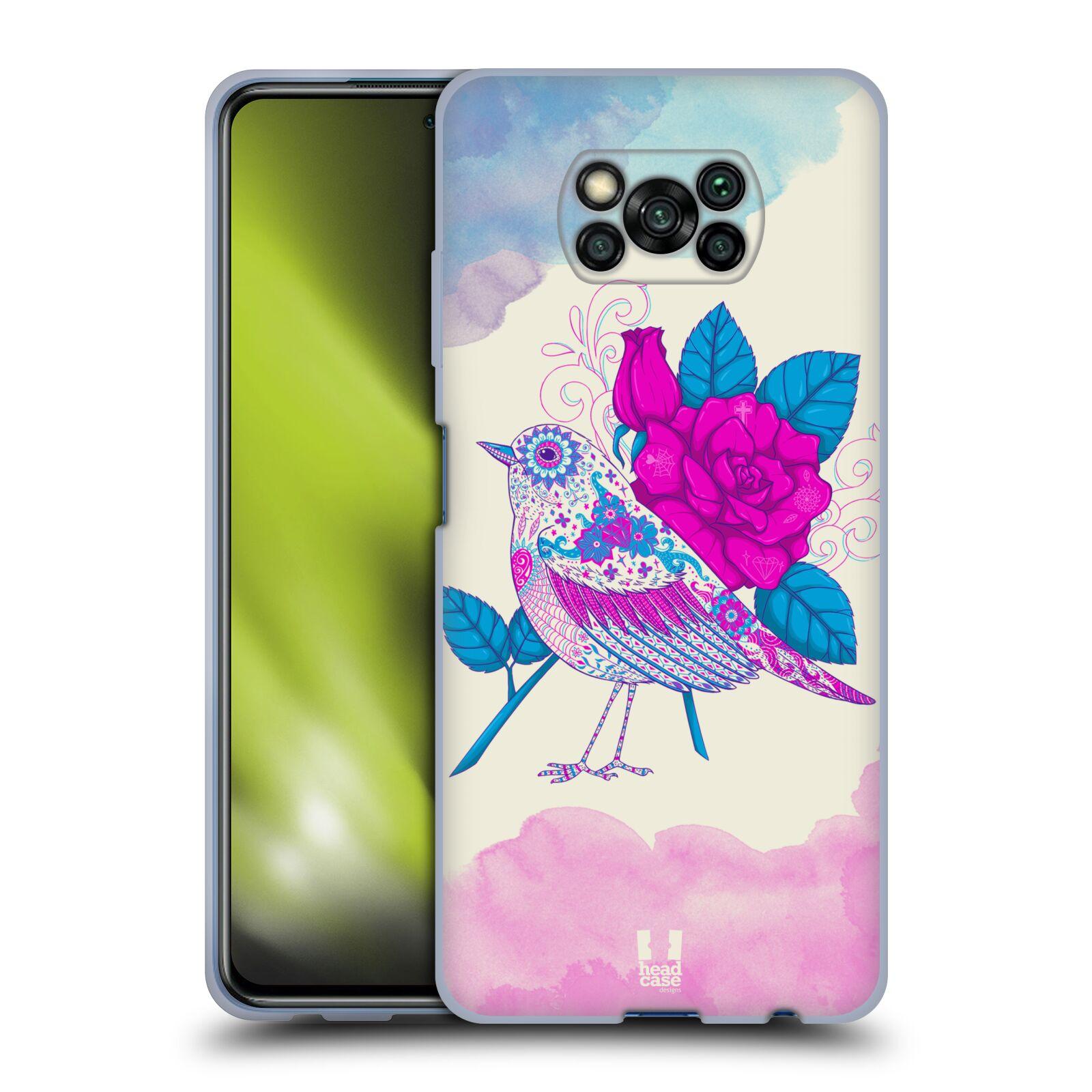 Silikonové pouzdro na mobil Xiaomi Poco X3 NFC - Head Case - PTÁČEK FUCHSIA