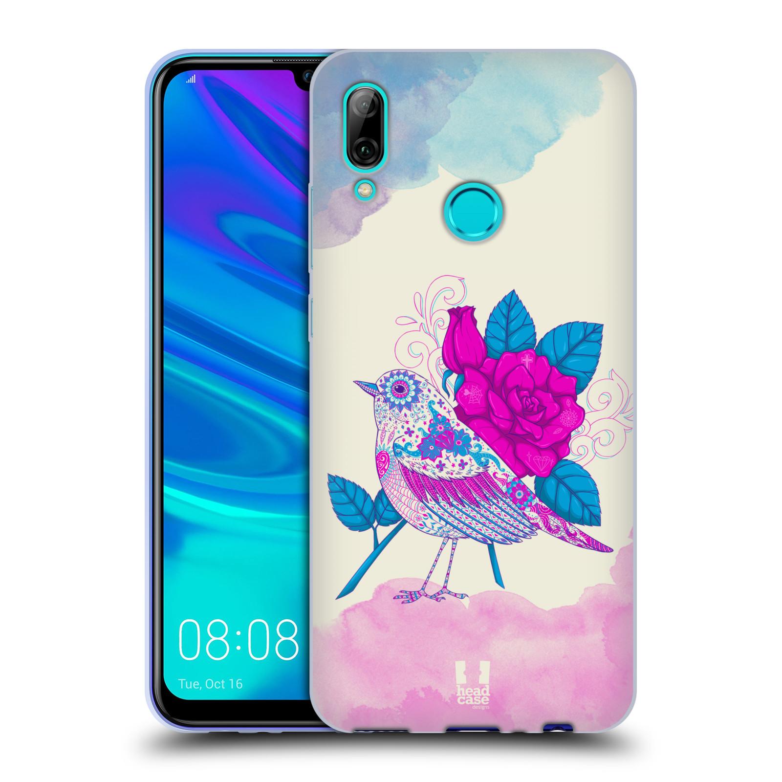 Silikonové pouzdro na mobil Huawei P Smart (2019) - Head Case - PTÁČEK FUCHSIA