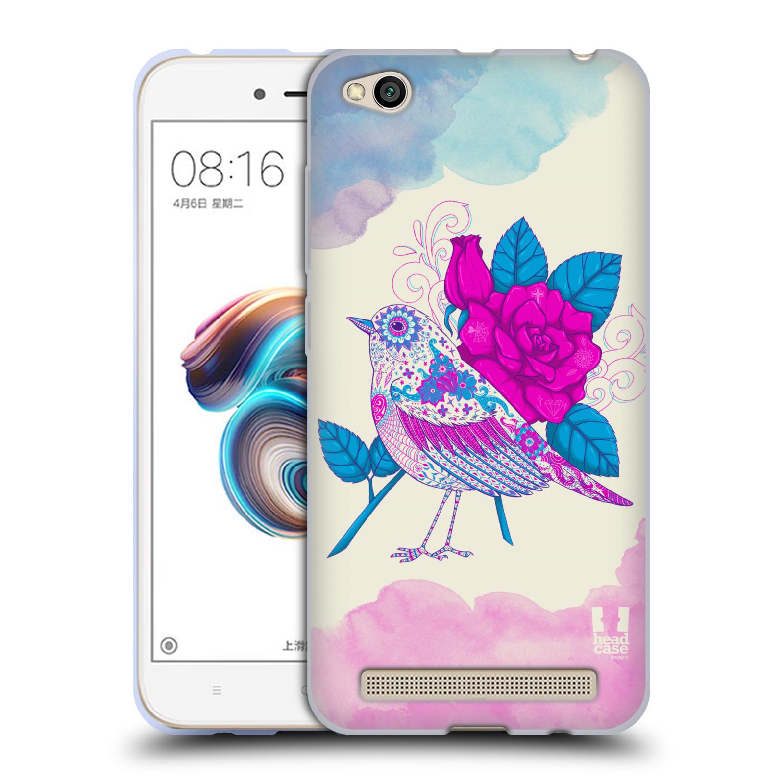 Silikonové pouzdro na mobil Xiaomi Redmi 5A - Head Case - PTÁČEK FUCHSIA