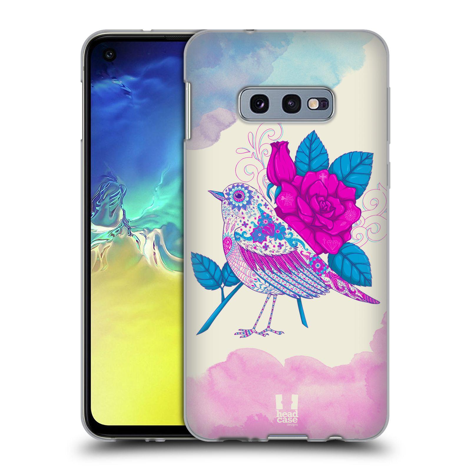 Silikonové pouzdro na mobil Samsung Galaxy S10e - Head Case - PTÁČEK FUCHSIA