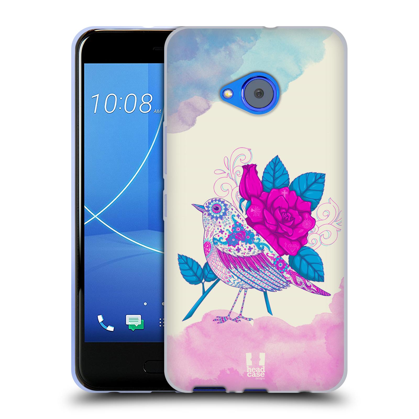 Silikonové pouzdro na mobil HTC U11 Life - Head Case - PTÁČEK FUCHSIA
