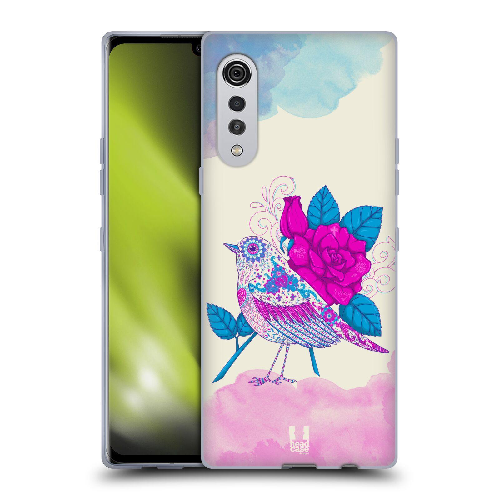 Silikonové pouzdro na mobil LG Velvet - Head Case - PTÁČEK FUCHSIA