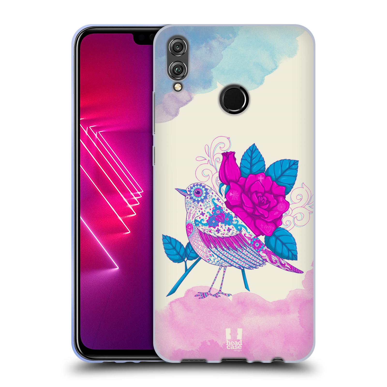 Silikonové pouzdro na mobil Honor View 10 Lite - Head Case - PTÁČEK FUCHSIA