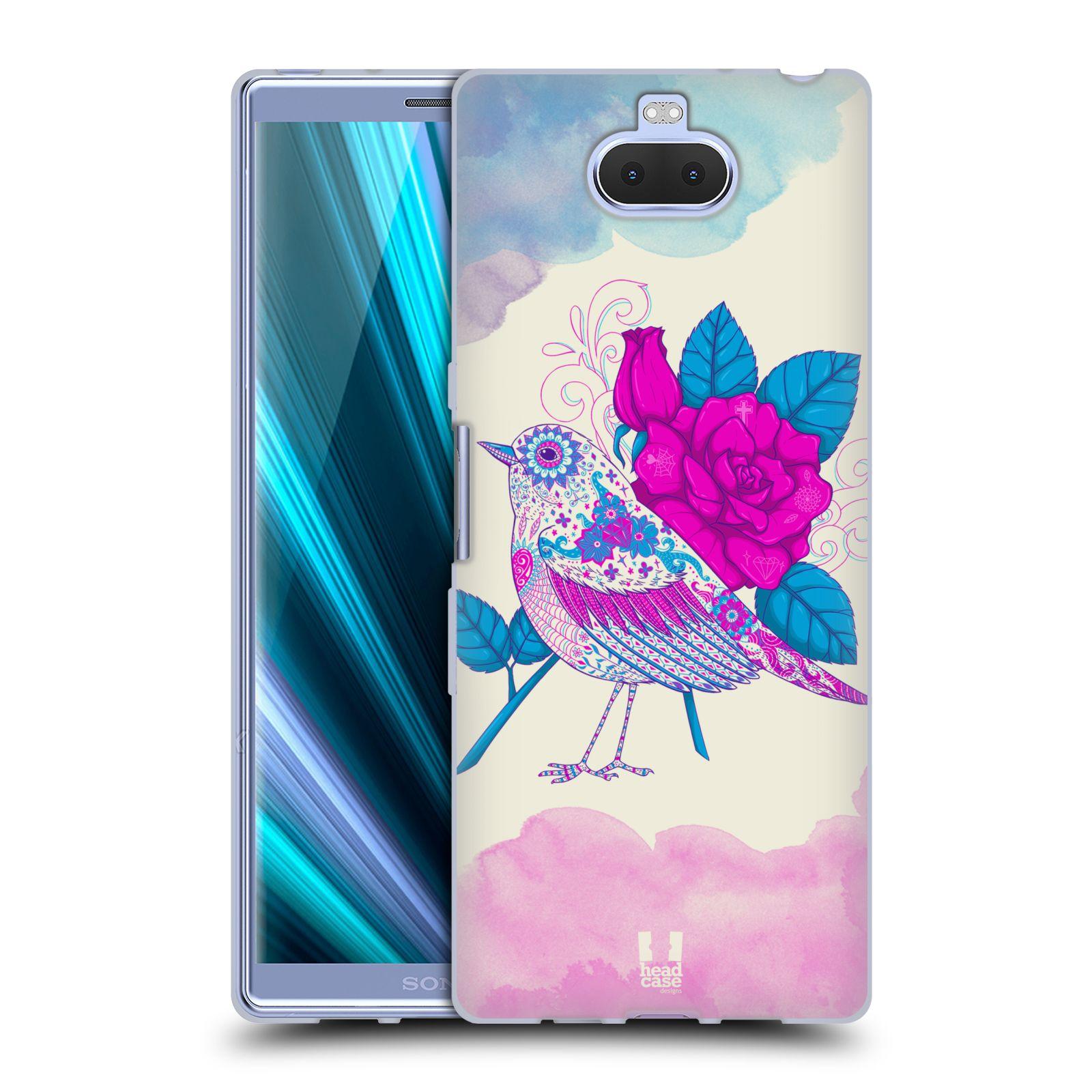 Silikonové pouzdro na mobil Sony Xperia 10 Plus - Head Case - PTÁČEK FUCHSIA