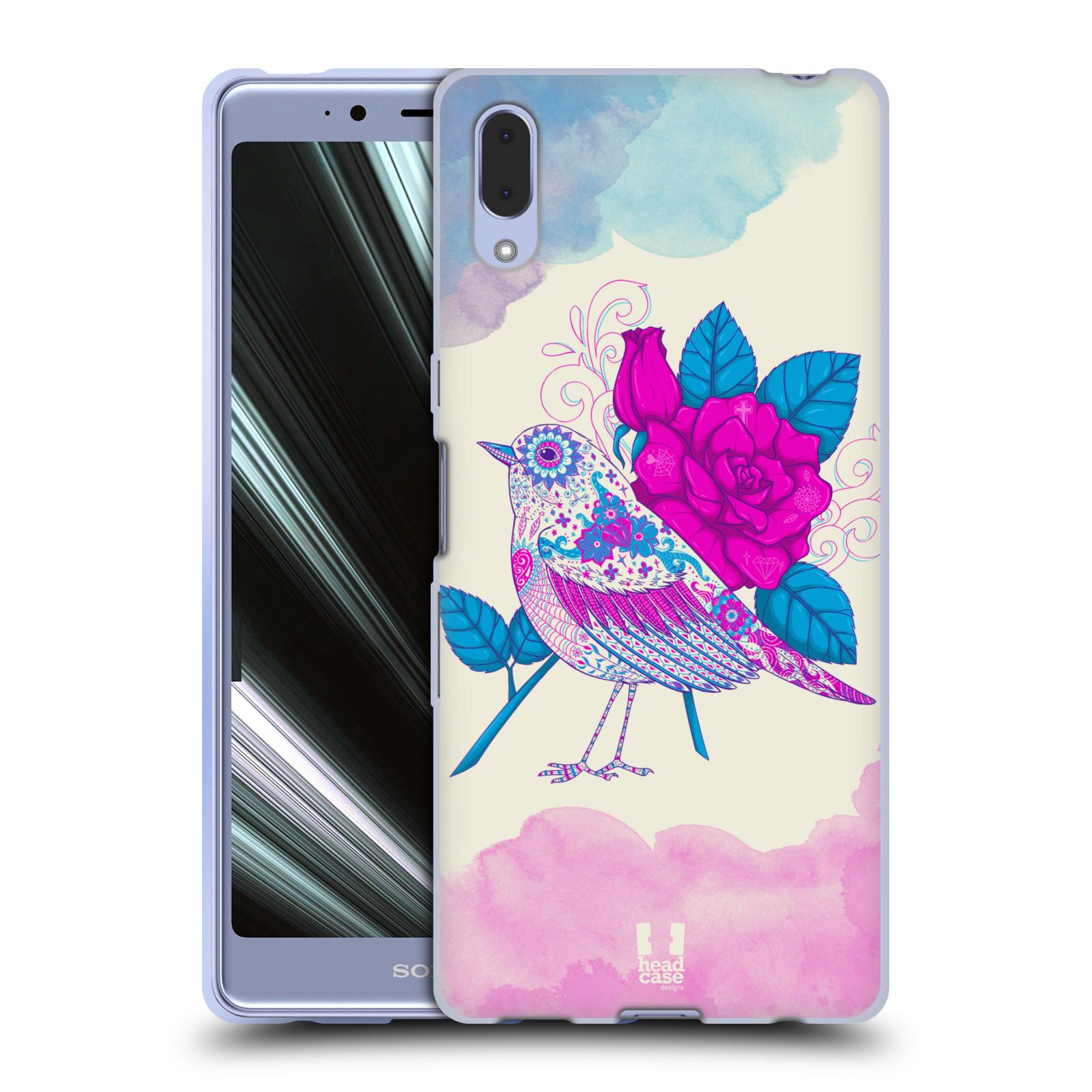 Silikonové pouzdro na mobil Sony Xperia L3 - Head Case - PTÁČEK FUCHSIA