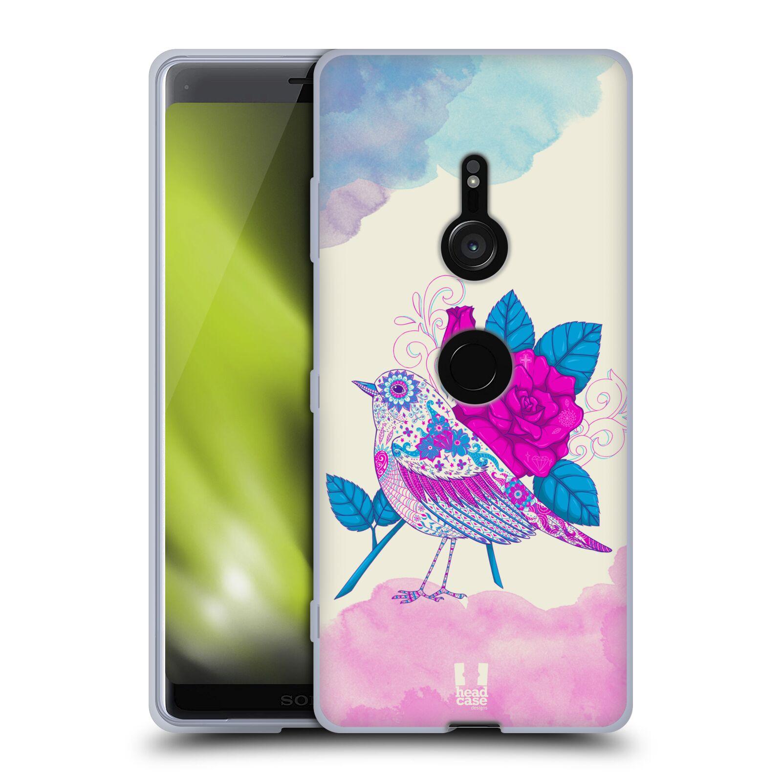 Silikonové pouzdro na mobil Sony Xperia XZ3 - Head Case - PTÁČEK FUCHSIA