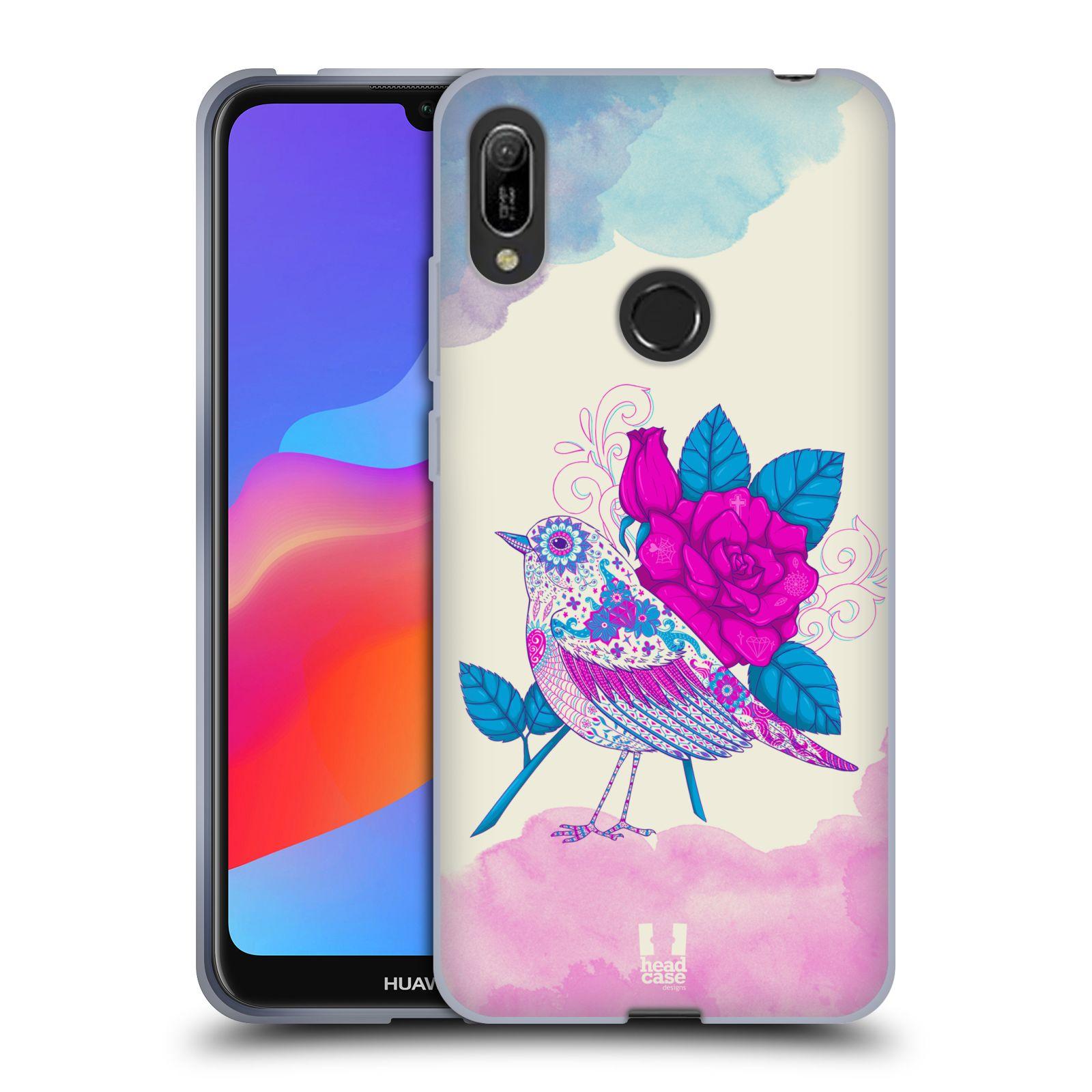 Silikonové pouzdro na mobil Huawei Y6 (2019) - Head Case - PTÁČEK FUCHSIA