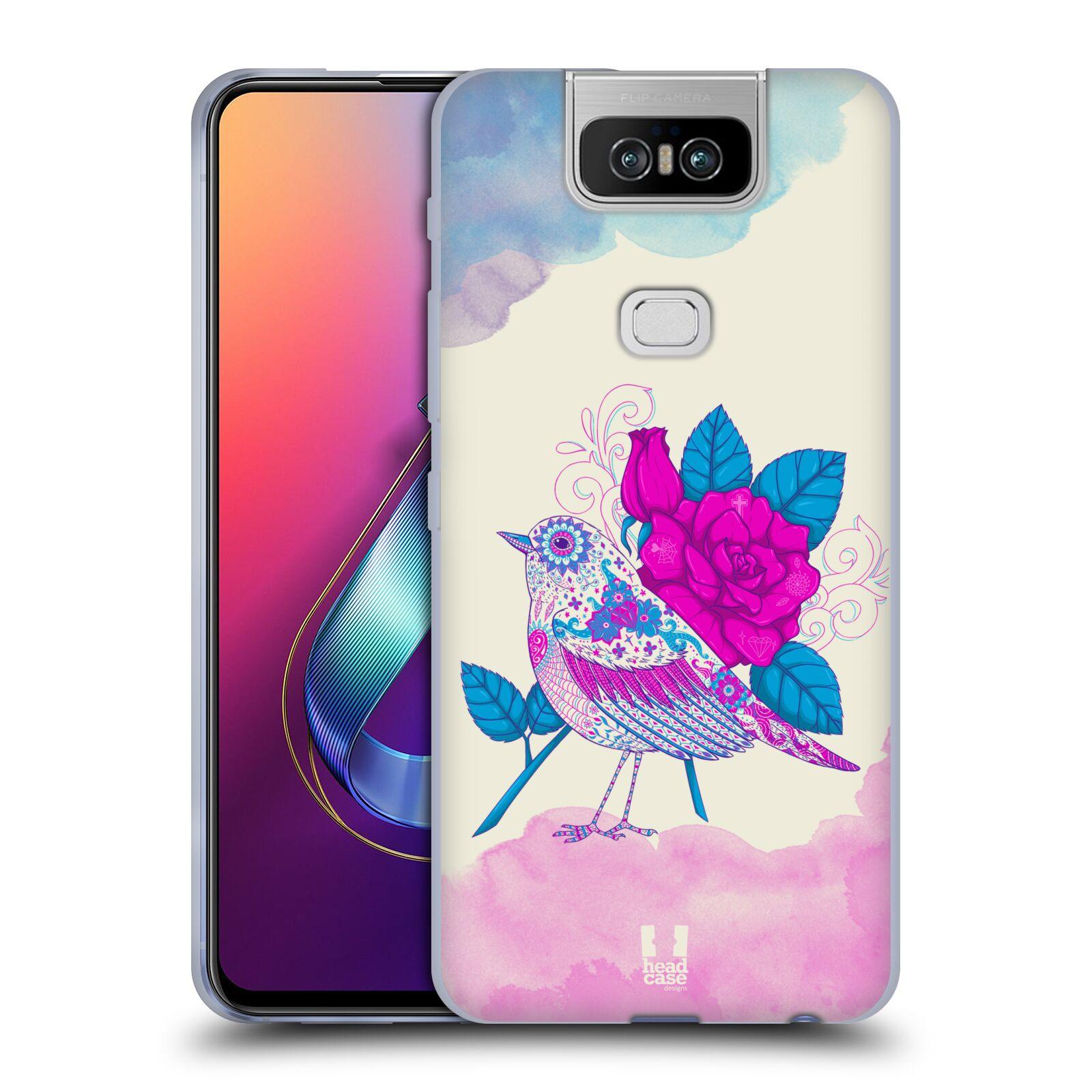 Silikonové pouzdro na mobil Asus Zenfone 6 ZS630KL - Head Case - PTÁČEK FUCHSIA