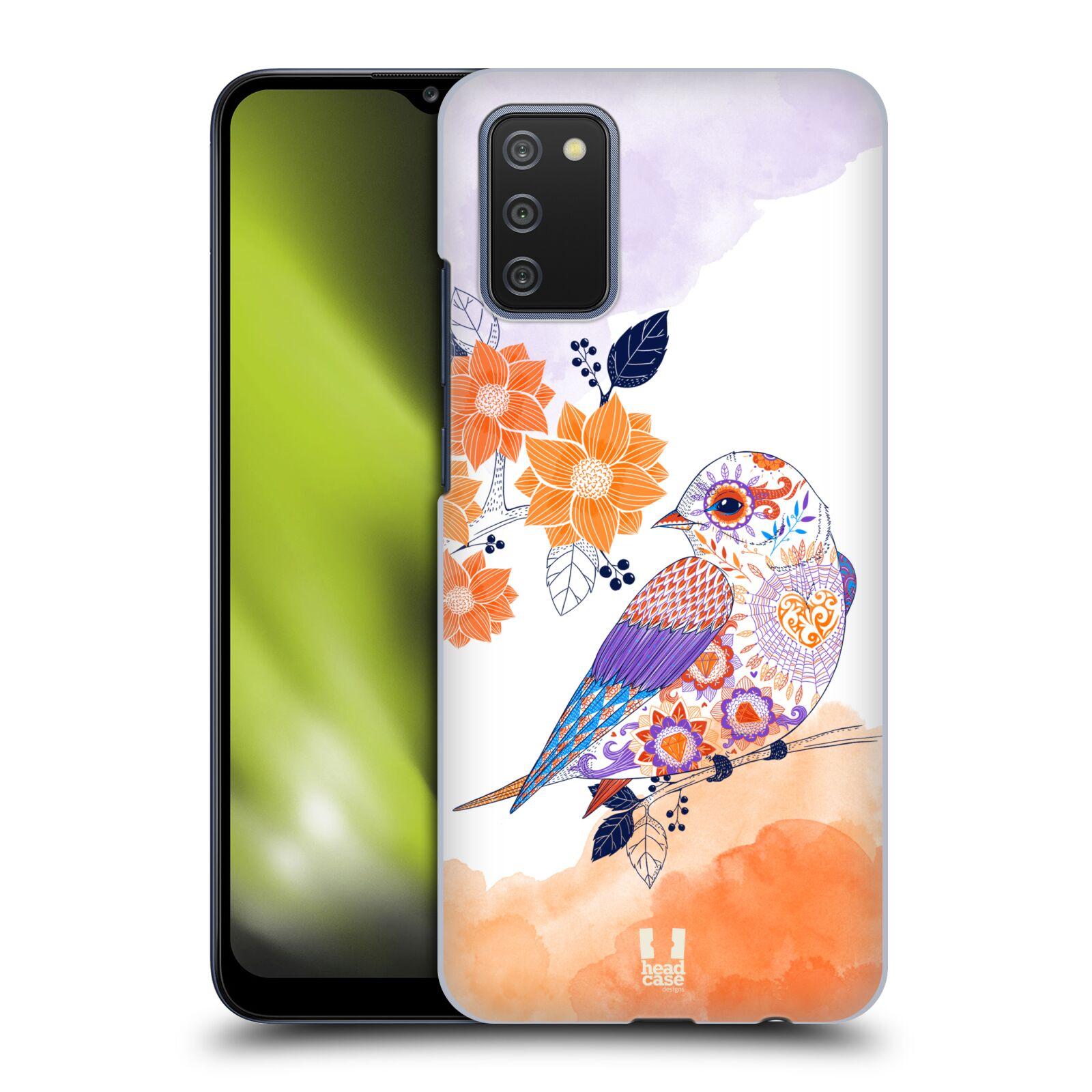 Plastové pouzdro na mobil Samsung Galaxy A02s - Head Case - PTÁČEK TANGERINE
