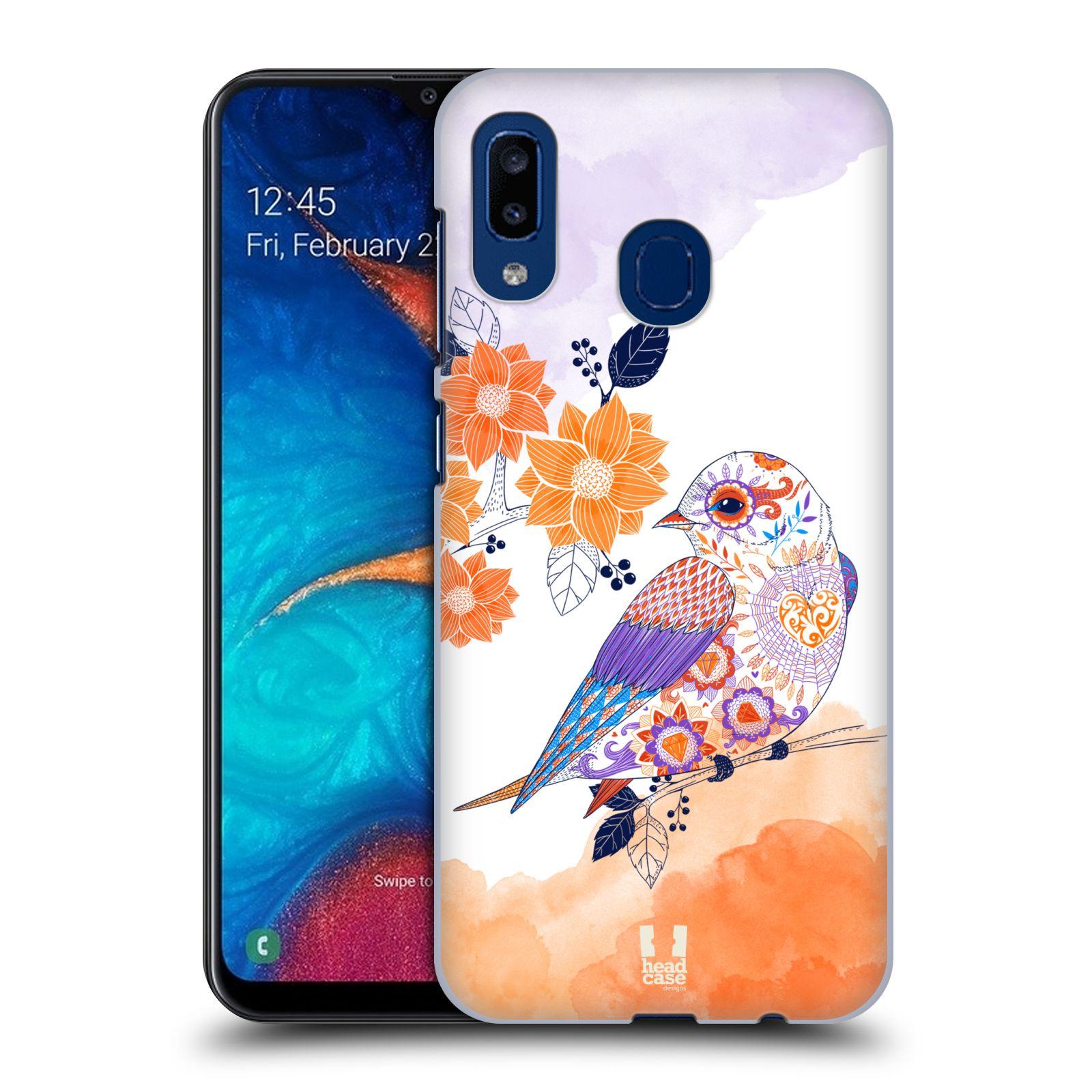 Plastové pouzdro na mobil Samsung Galaxy A20 - Head Case - PTÁČEK TANGERINE