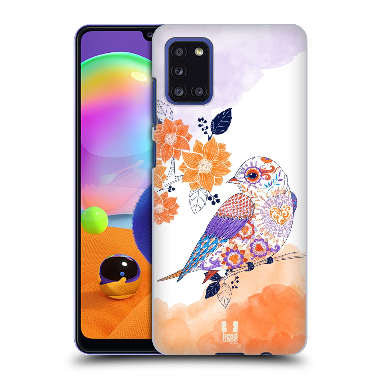 Plastové pouzdro na mobil Samsung Galaxy A31 - Head Case - PTÁČEK TANGERINE