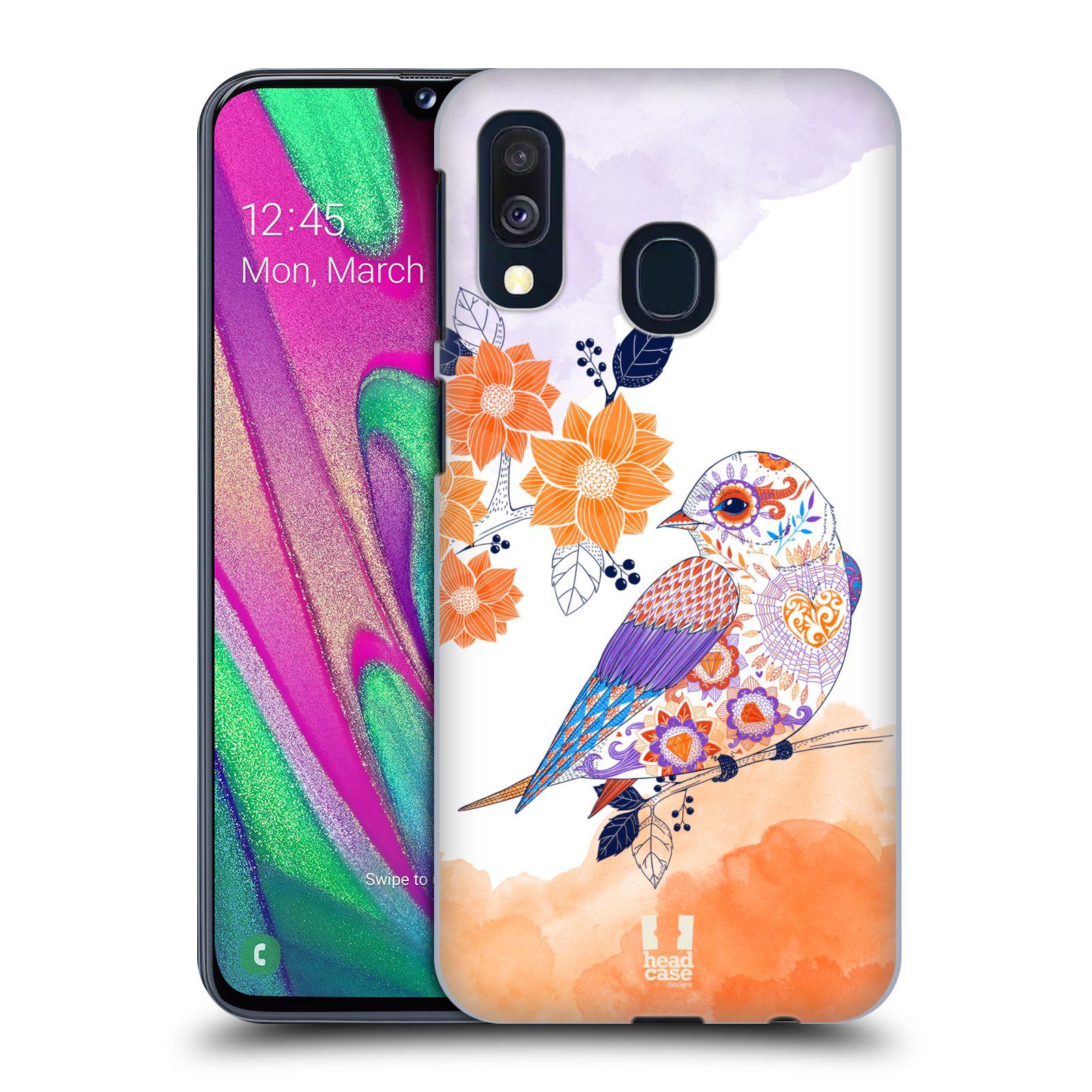 Plastové pouzdro na mobil Samsung Galaxy A40 - Head Case - PTÁČEK TANGERINE