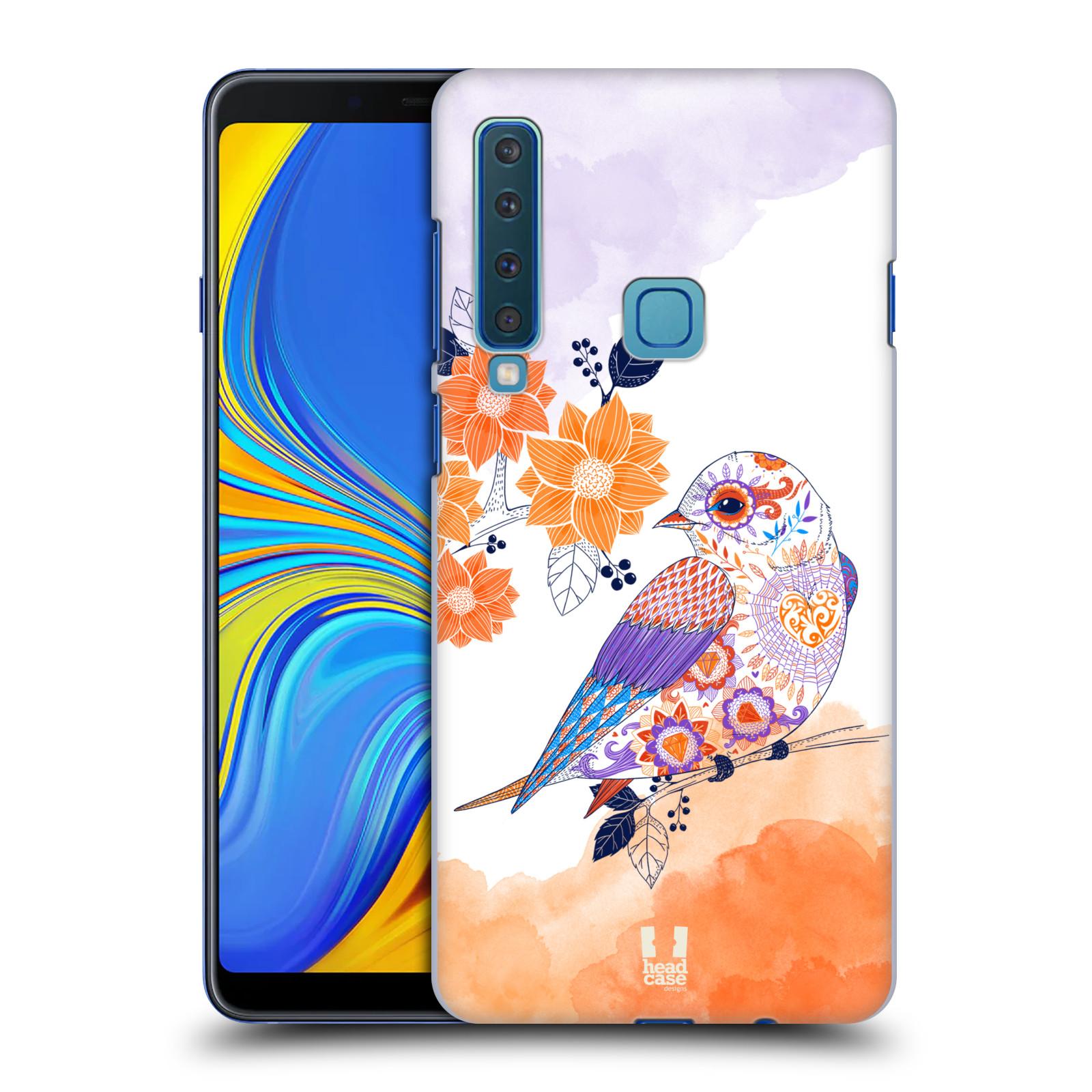 Plastové pouzdro na mobil Samsung Galaxy A9 (2018) - Head Case - PTÁČEK TANGERINE