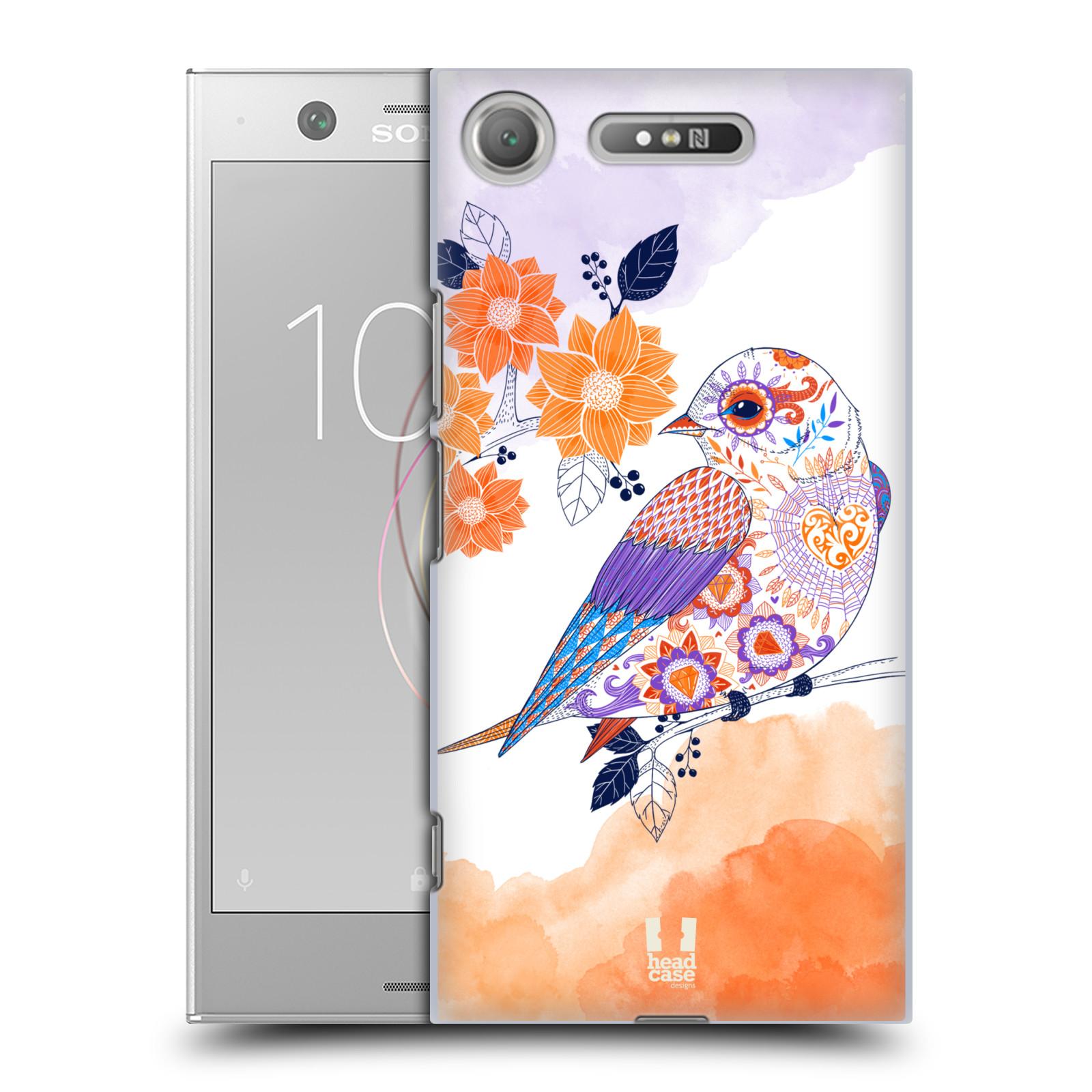 Plastové pouzdro na mobil Sony Xperia XZ1 - Head Case - PTÁČEK TANGERINE