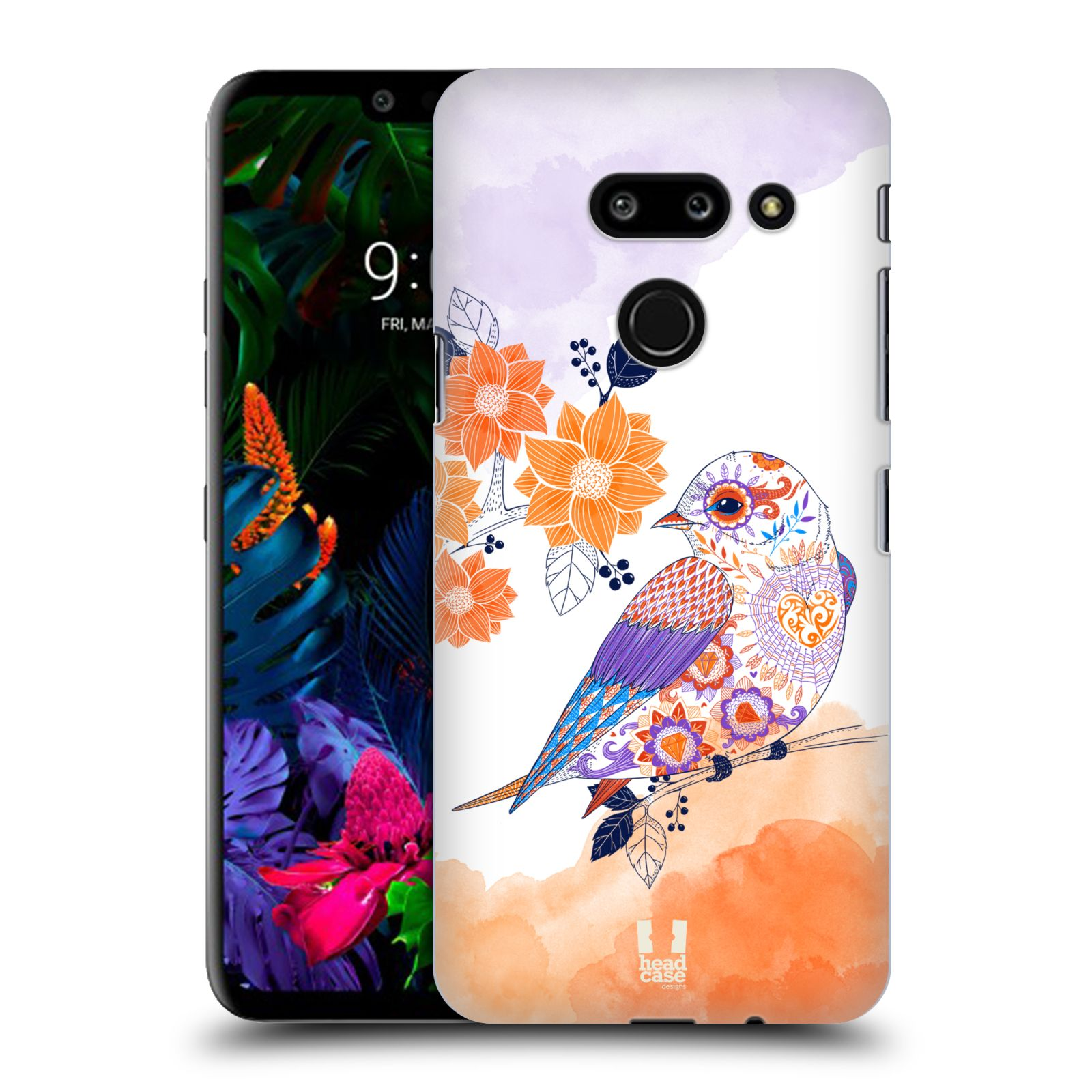 Plastové pouzdro na mobil LG G8 ThinQ - Head Case - PTÁČEK TANGERINE