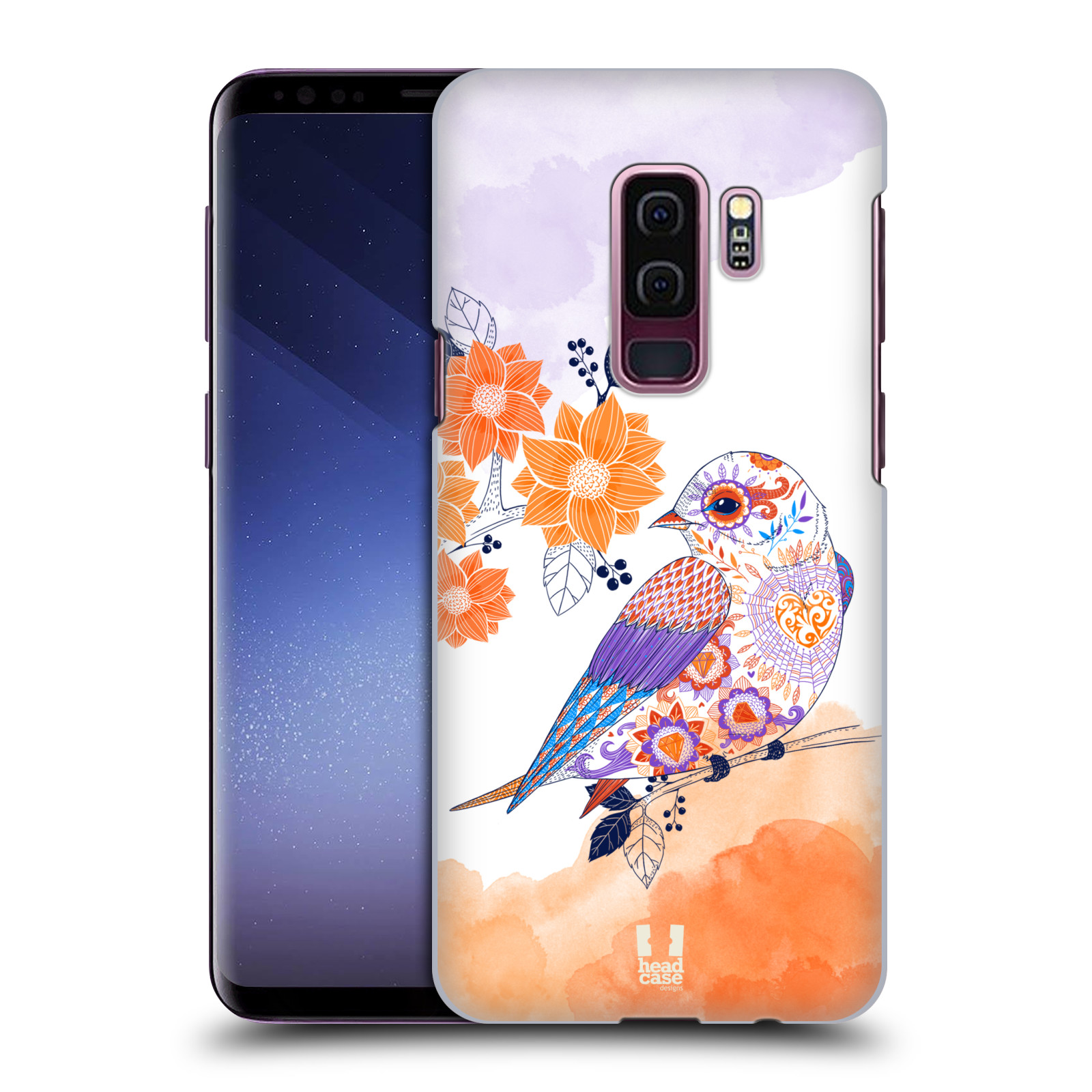 Plastové pouzdro na mobil Samsung Galaxy S9 Plus - Head Case - PTÁČEK TANGERINE