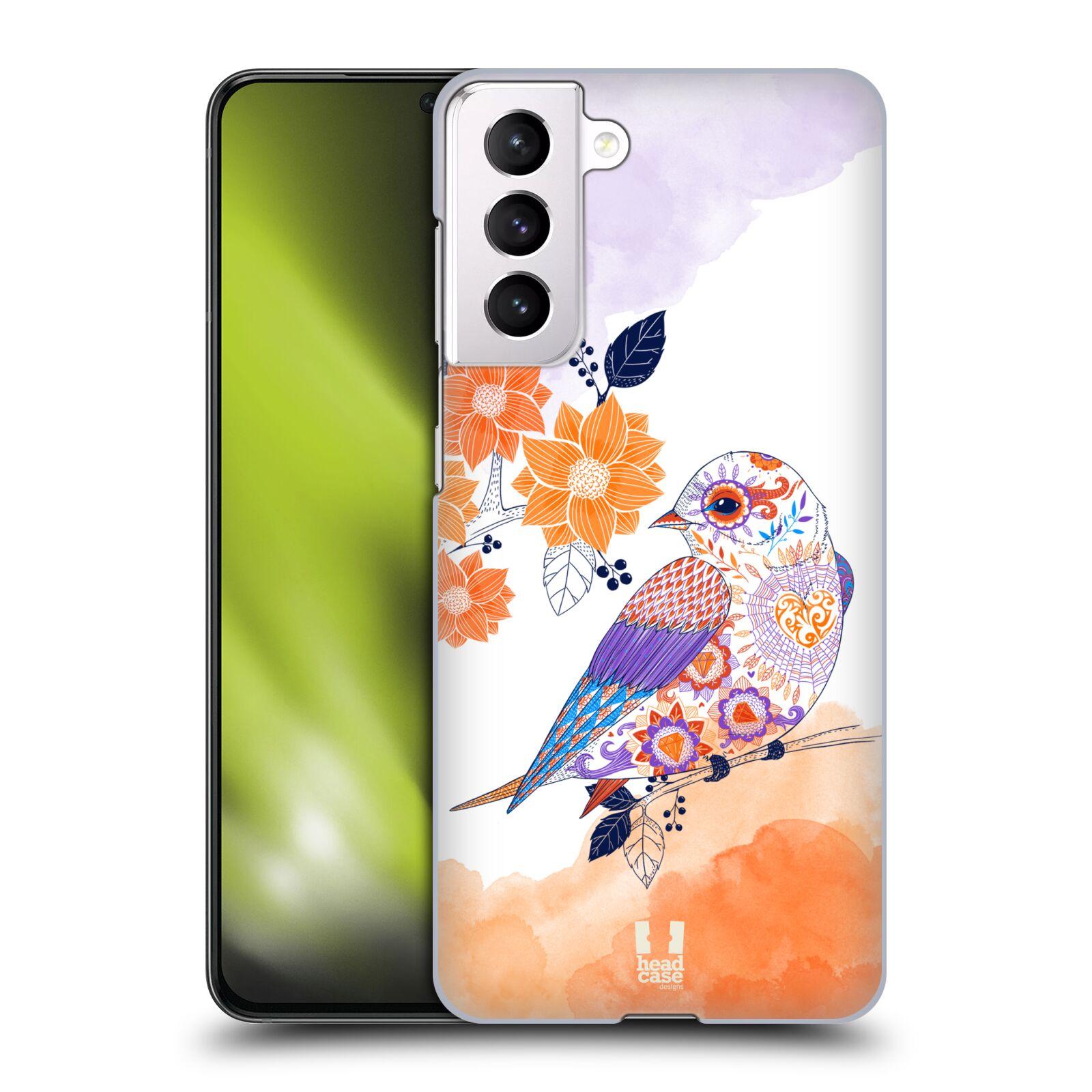 Plastové pouzdro na mobil Samsung Galaxy S21 5G - Head Case - PTÁČEK TANGERINE