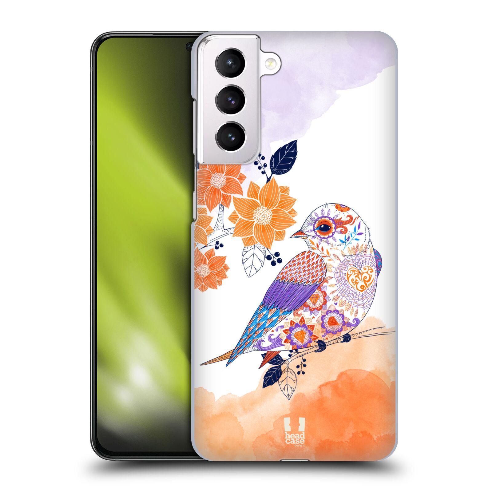 Plastové pouzdro na mobil Samsung Galaxy S21 Plus 5G - Head Case - PTÁČEK TANGERINE