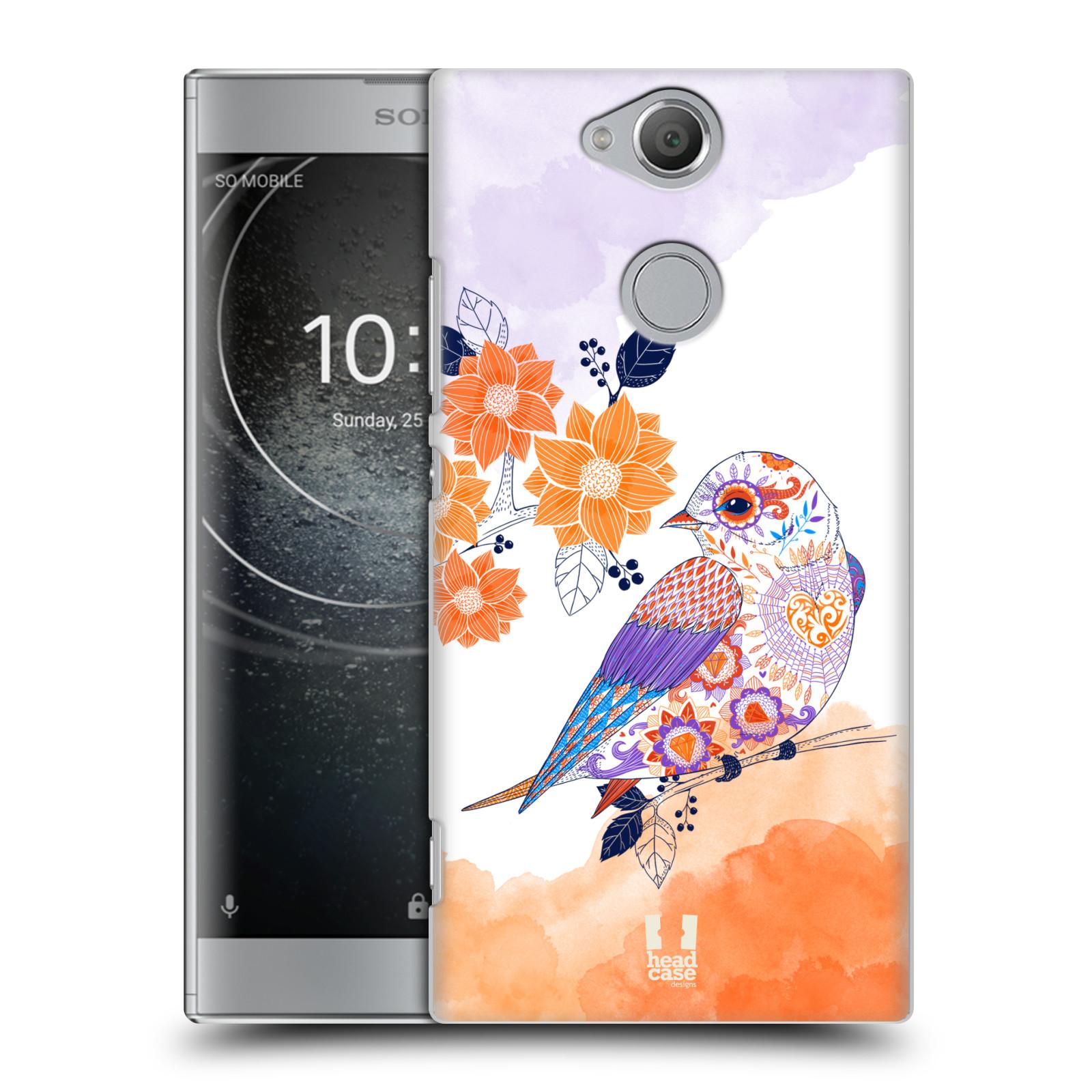 Plastové pouzdro na mobil Sony Xperia XA2 - Head Case - PTÁČEK TANGERINE