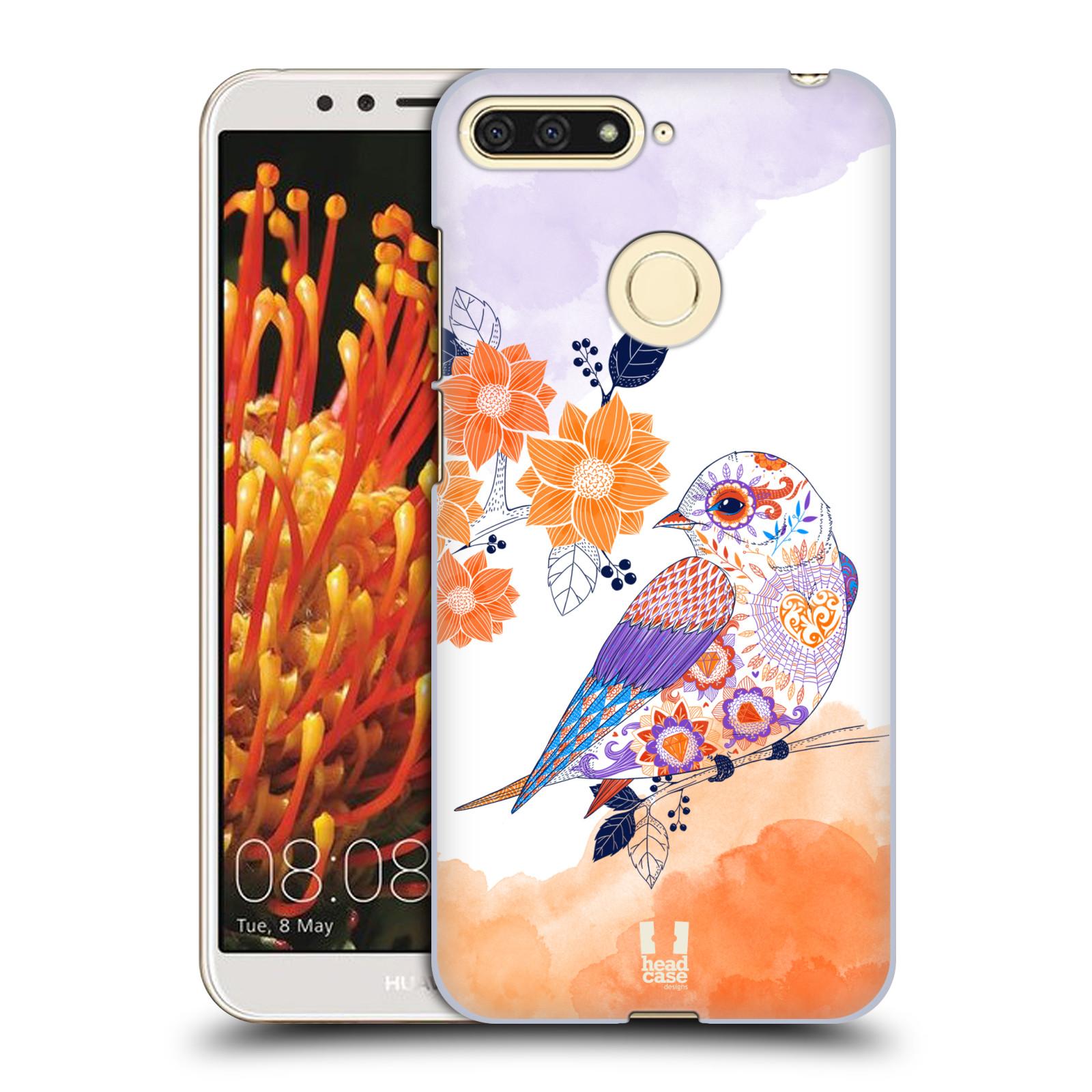 Plastové pouzdro na mobil Huawei Y6 Prime 2018 - Head Case - PTÁČEK TANGERINE