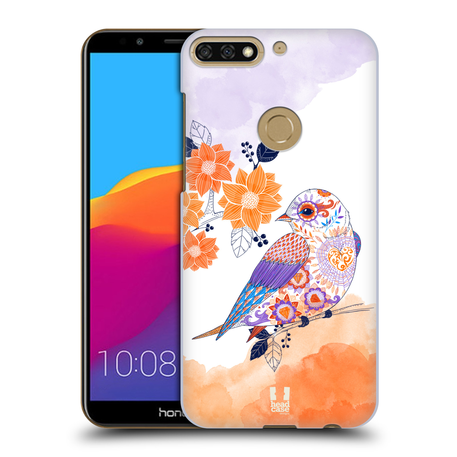 Plastové pouzdro na mobil Huawei Y7 Prime 2018 - Head Case - PTÁČEK TANGERINE
