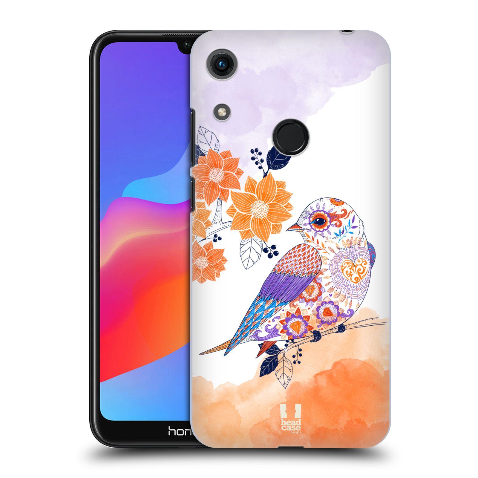 Plastové pouzdro na mobil Honor 8A - Head Case - PTÁČEK TANGERINE