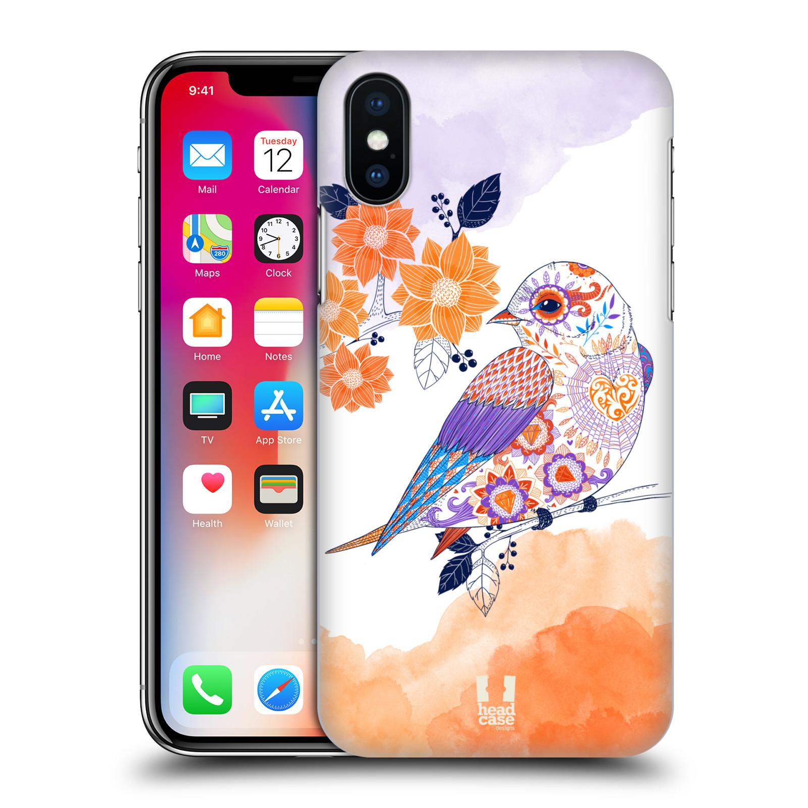 Plastové pouzdro na mobil Apple iPhone X - Head Case - PTÁČEK TANGERINE