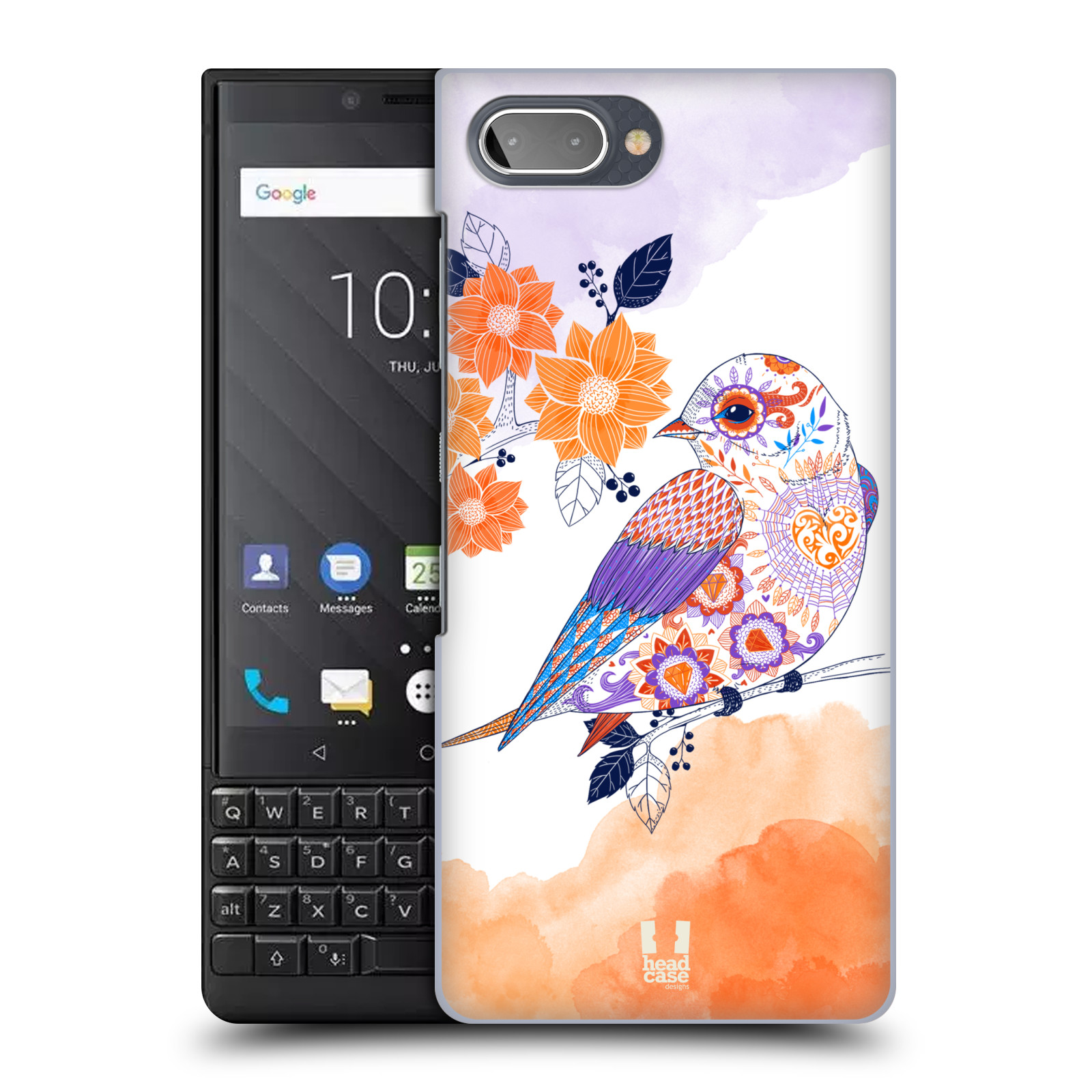 Plastové pouzdro na mobil Blackberry Key 2 - Head Case - PTÁČEK TANGERINE