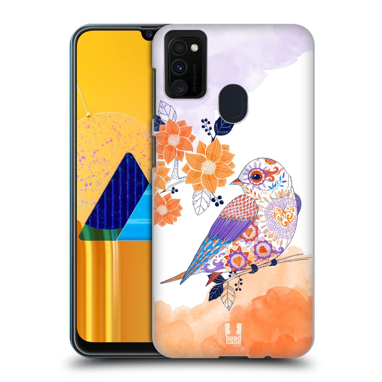 Plastové pouzdro na mobil Samsung Galaxy M21 - Head Case - PTÁČEK TANGERINE