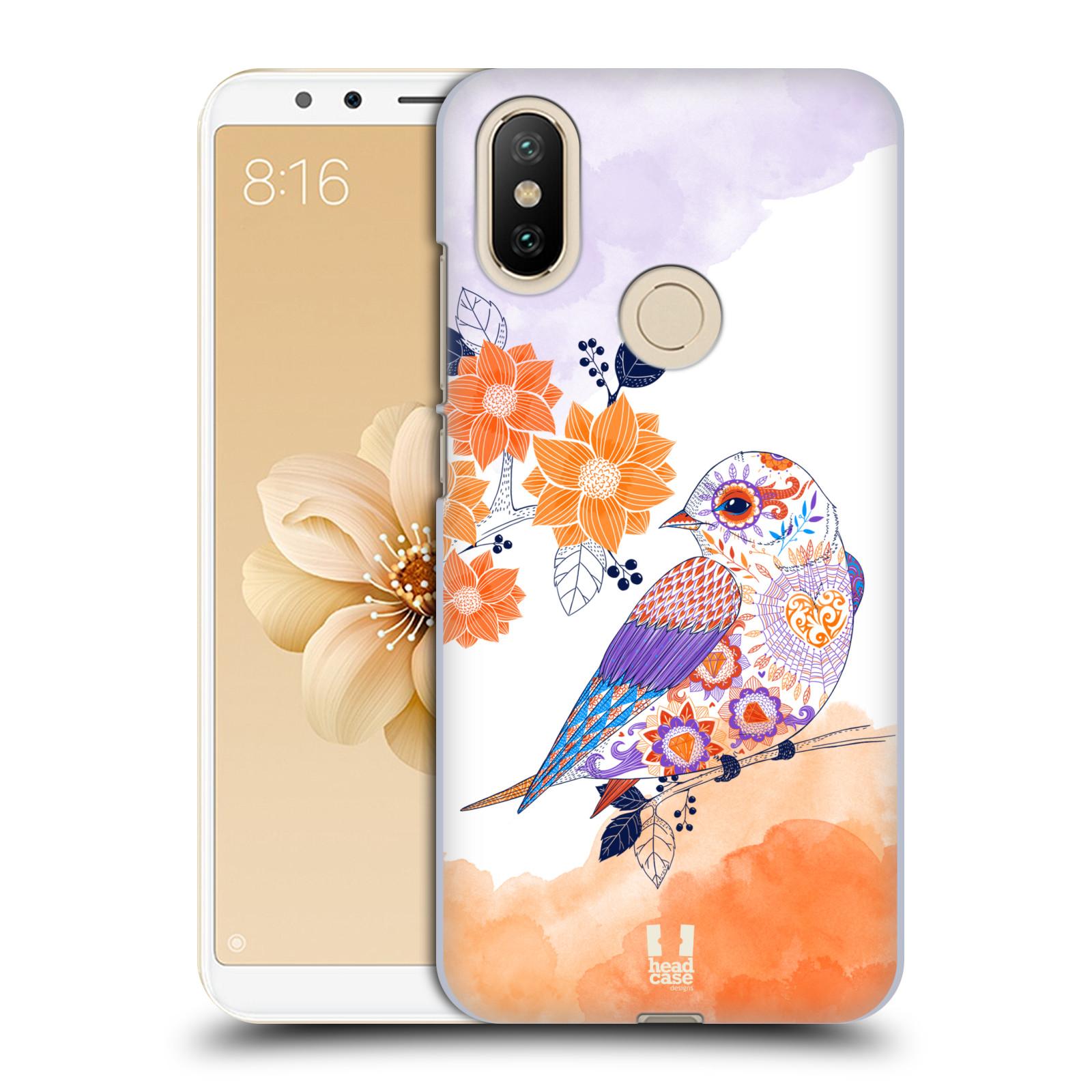 Plastové pouzdro na mobil Xiaomi Mi A2 - Head Case - PTÁČEK TANGERINE