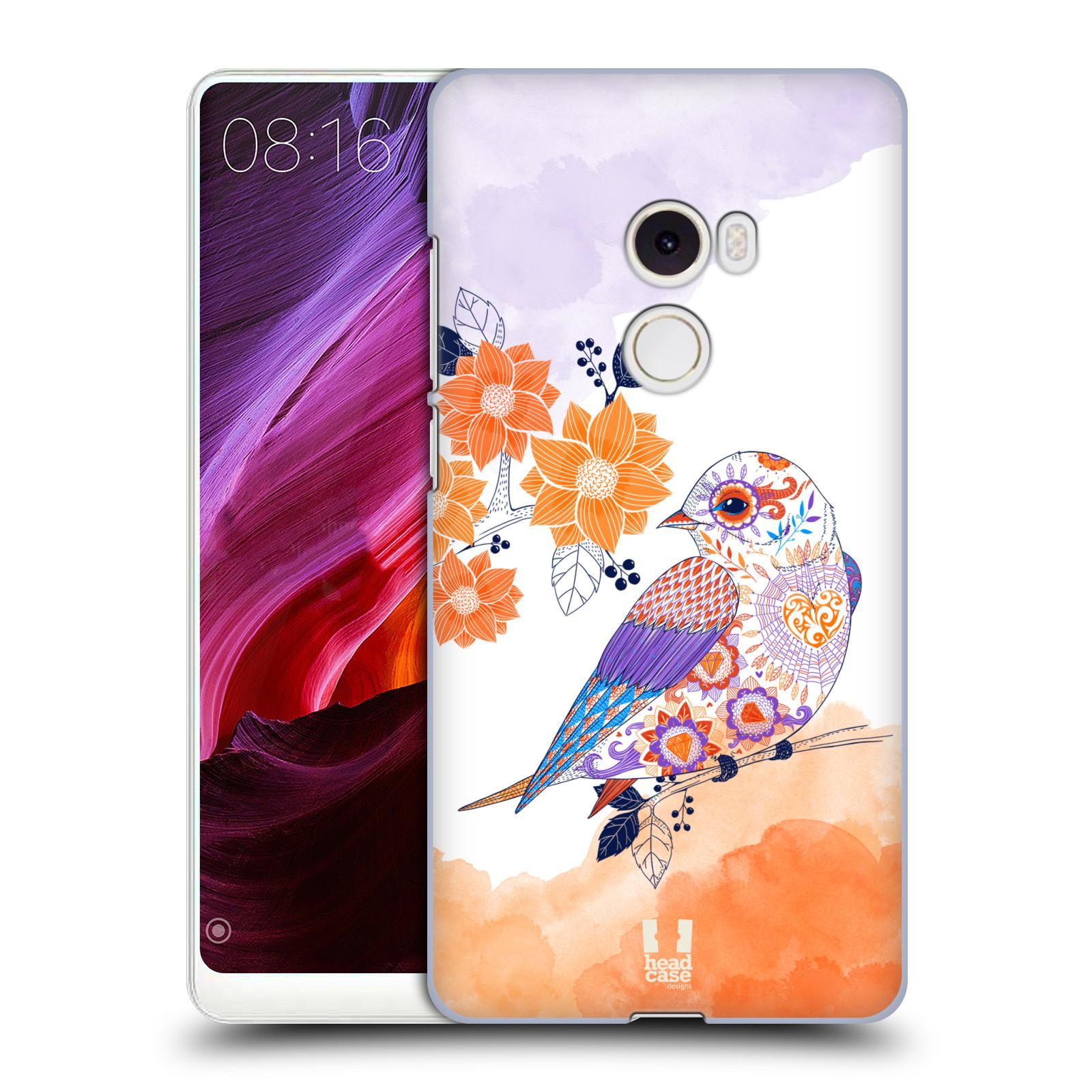 Plastové pouzdro na mobil Xiaomi Mi Mix 2 - Head Case - PTÁČEK TANGERINE