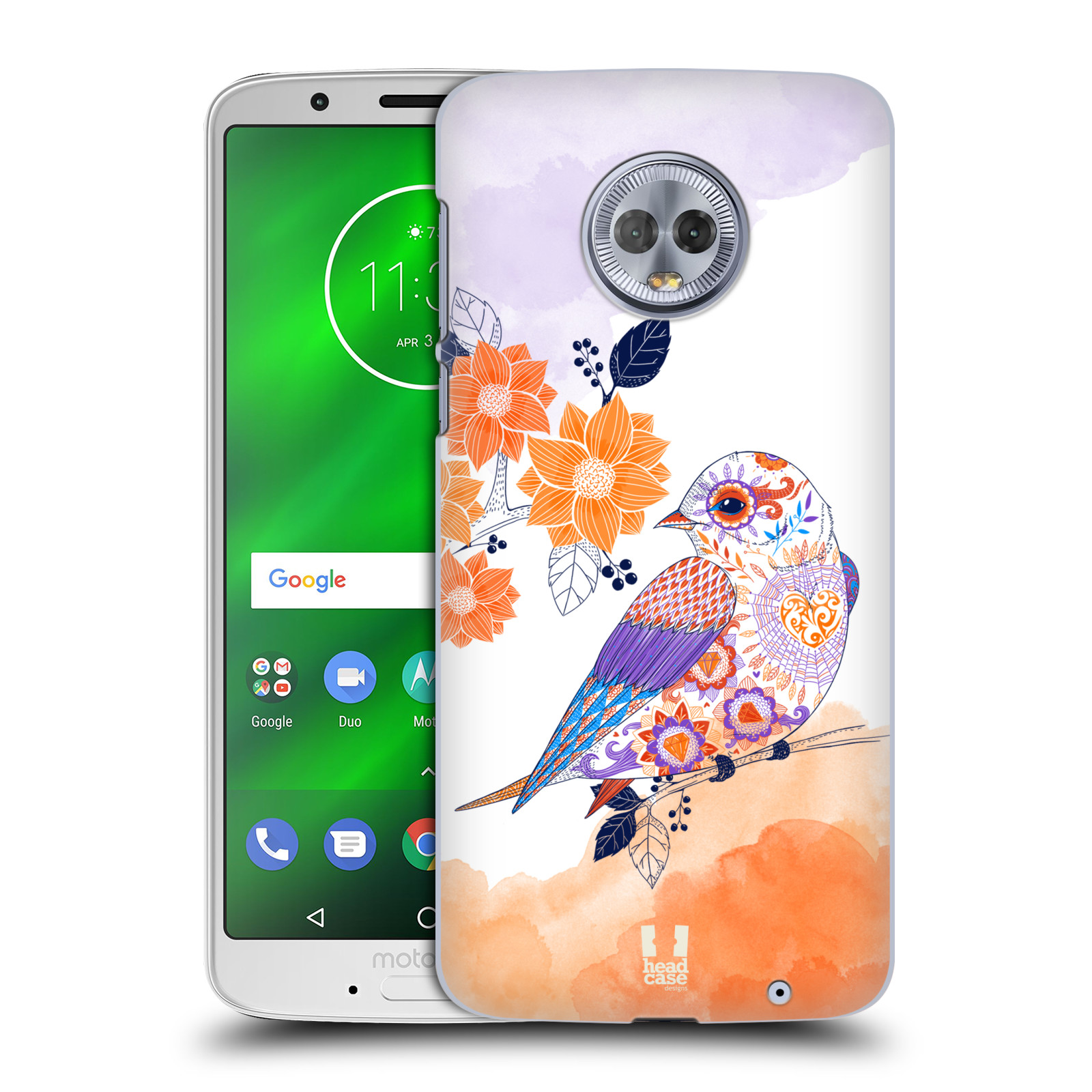 Plastové pouzdro na mobil Motorola Moto G6 Plus - Head Case - PTÁČEK TANGERINE