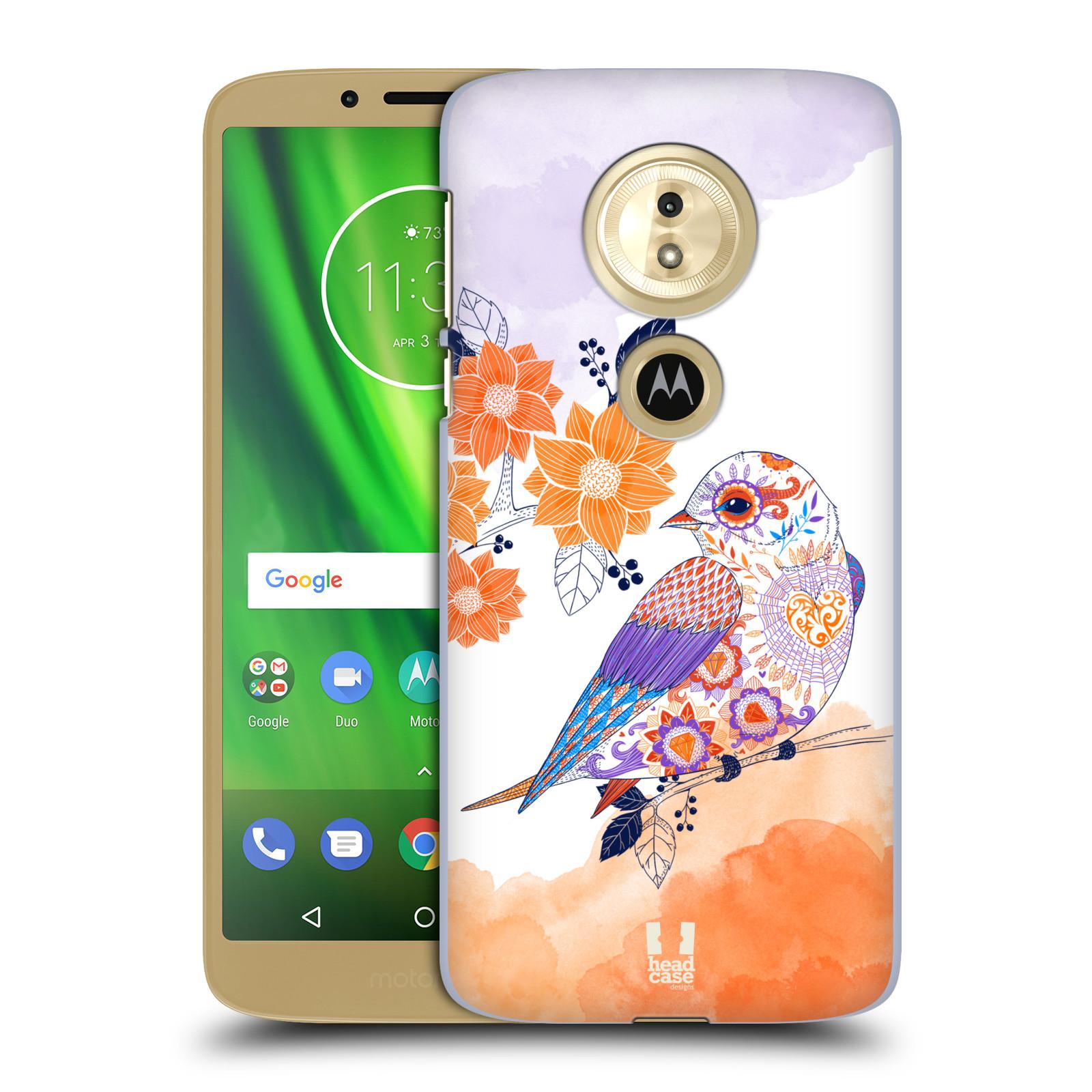 Plastové pouzdro na mobil Motorola Moto G6 Play - Head Case - PTÁČEK TANGERINE