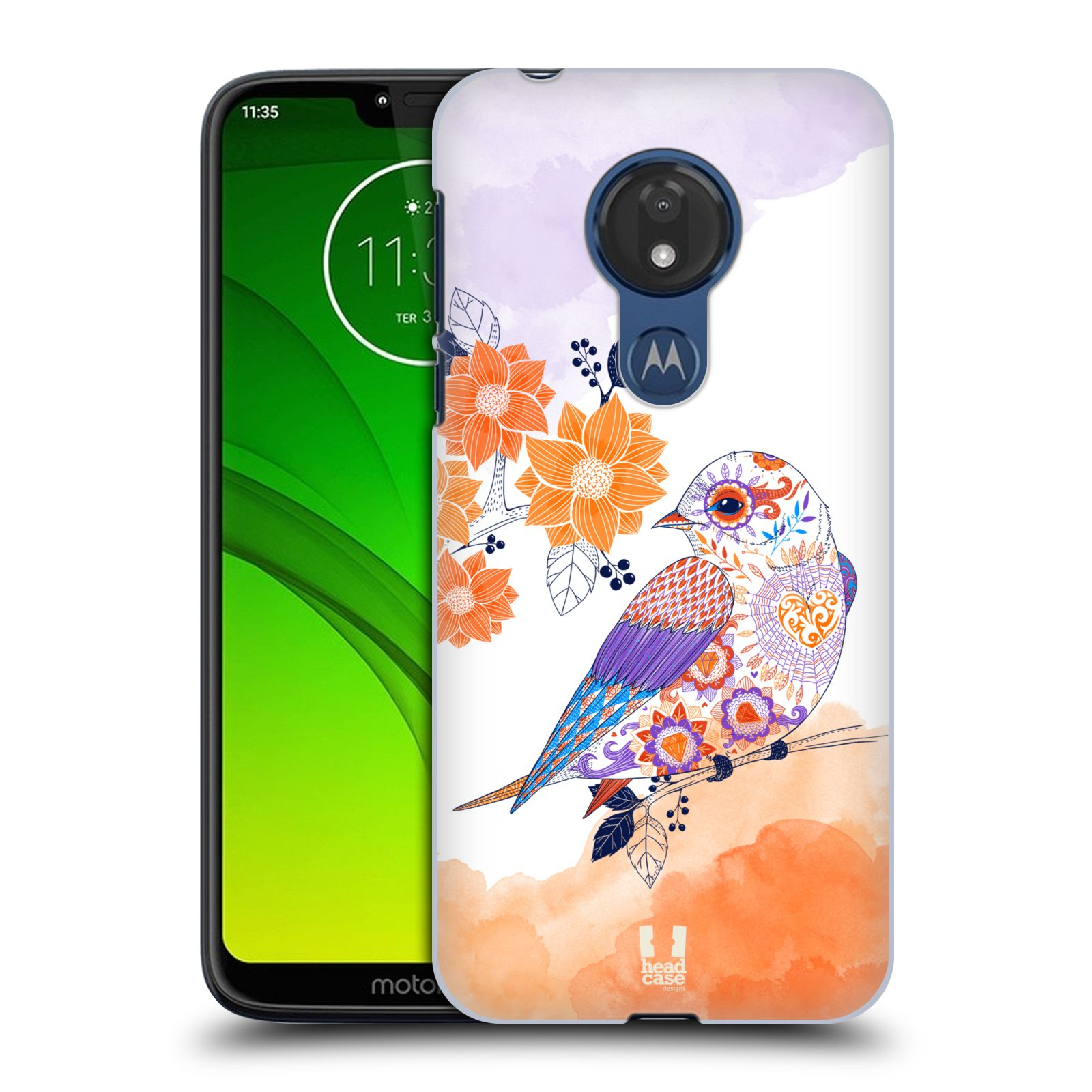 Plastové pouzdro na mobil Motorola Moto G7 Power - Head Case - PTÁČEK TANGERINE