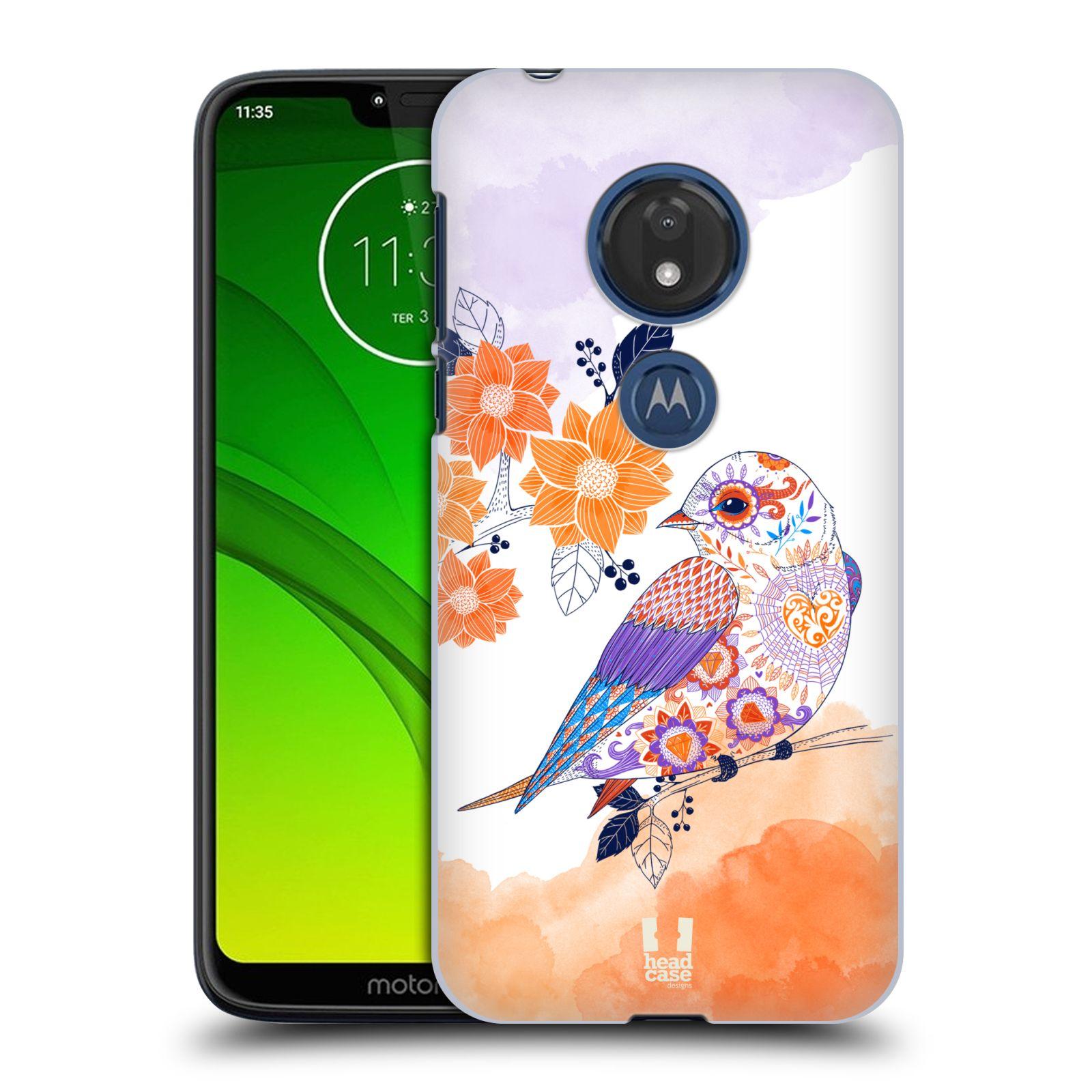 Plastové pouzdro na mobil Motorola Moto G7 Play - Head Case - PTÁČEK TANGERINE
