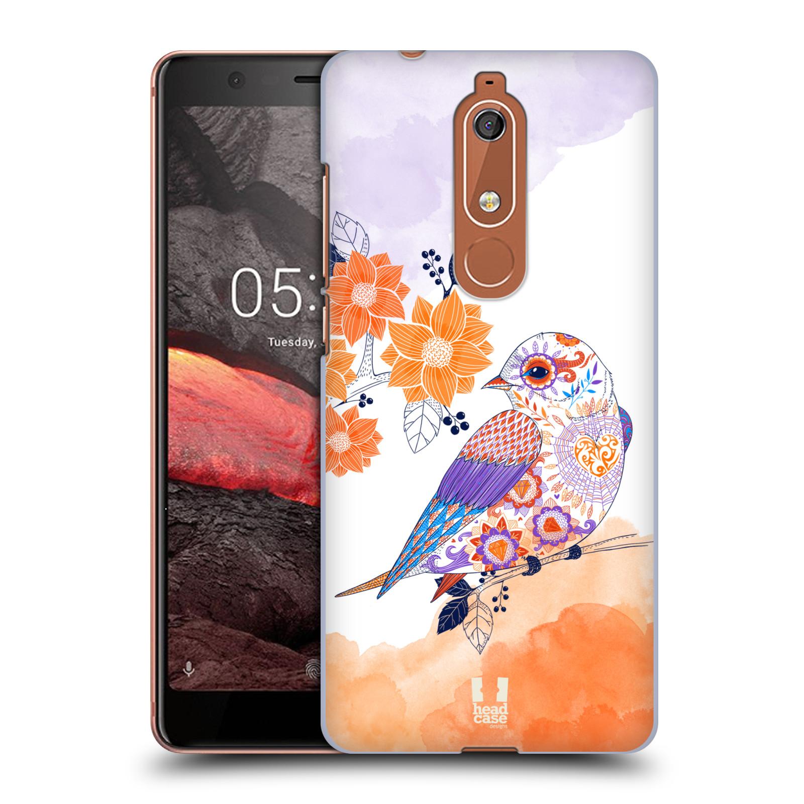 Plastové pouzdro na mobil Nokia 5.1 - Head Case - PTÁČEK TANGERINE