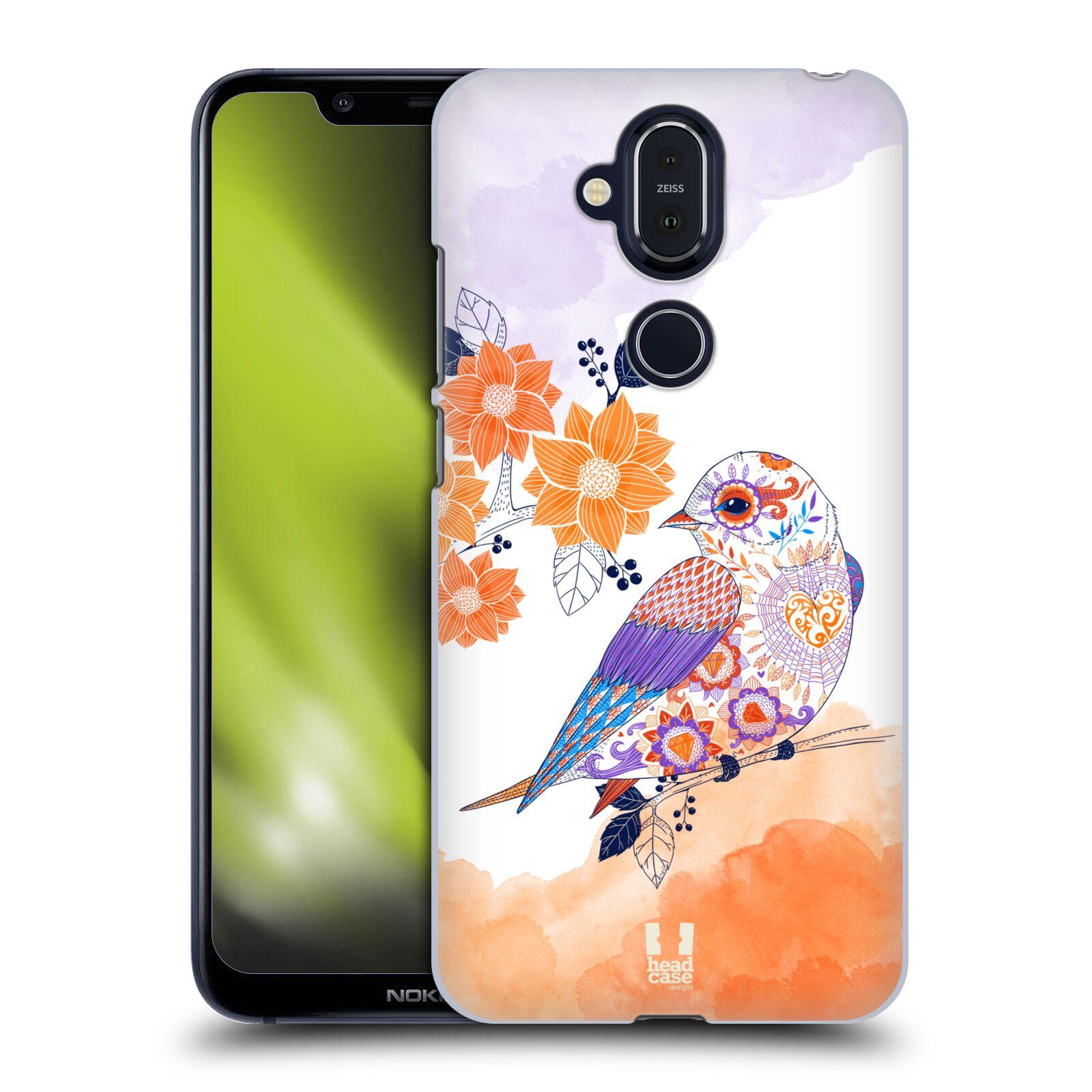 Plastové pouzdro na mobil Nokia 8.1 - Head Case - PTÁČEK TANGERINE