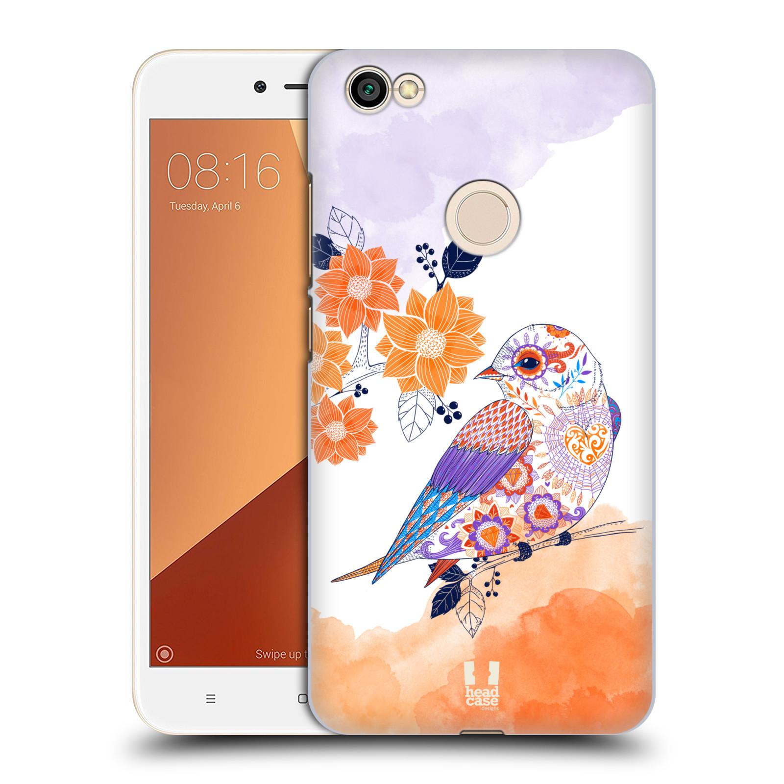 Plastové pouzdro na mobil Xiaomi Redmi Note 5A Prime - Head Case - PTÁČEK TANGERINE
