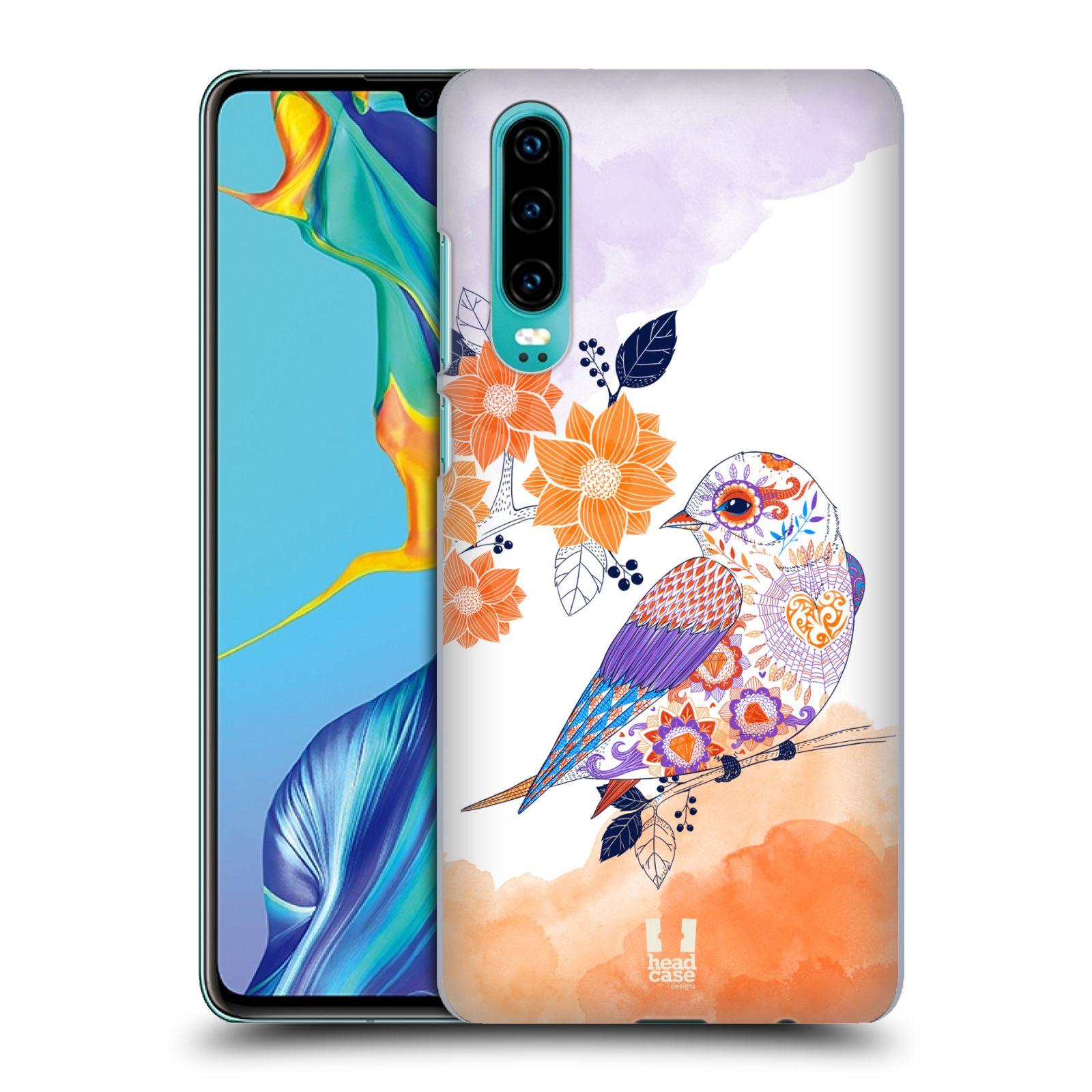 Plastové pouzdro na mobil Huawei P30 - Head Case - PTÁČEK TANGERINE