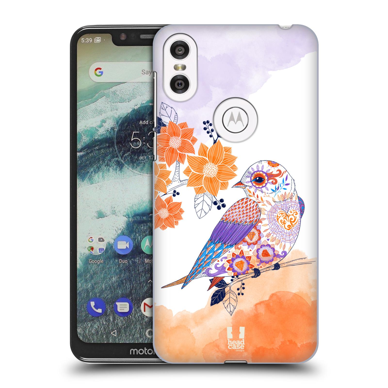 Plastové pouzdro na mobil Motorola One - Head Case - PTÁČEK TANGERINE