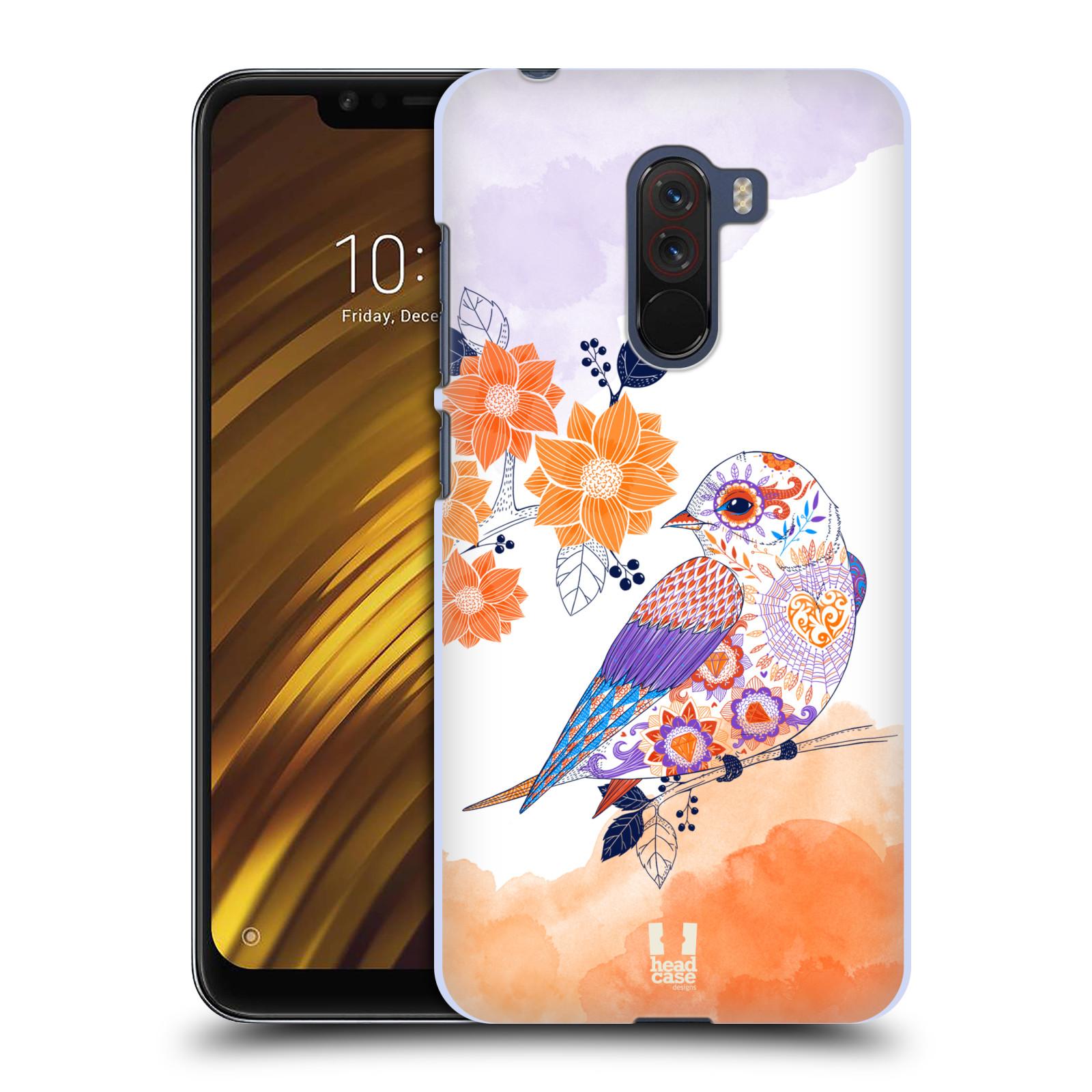 Plastové pouzdro na mobil Xiaomi Pocophone F1 - Head Case - PTÁČEK TANGERINE