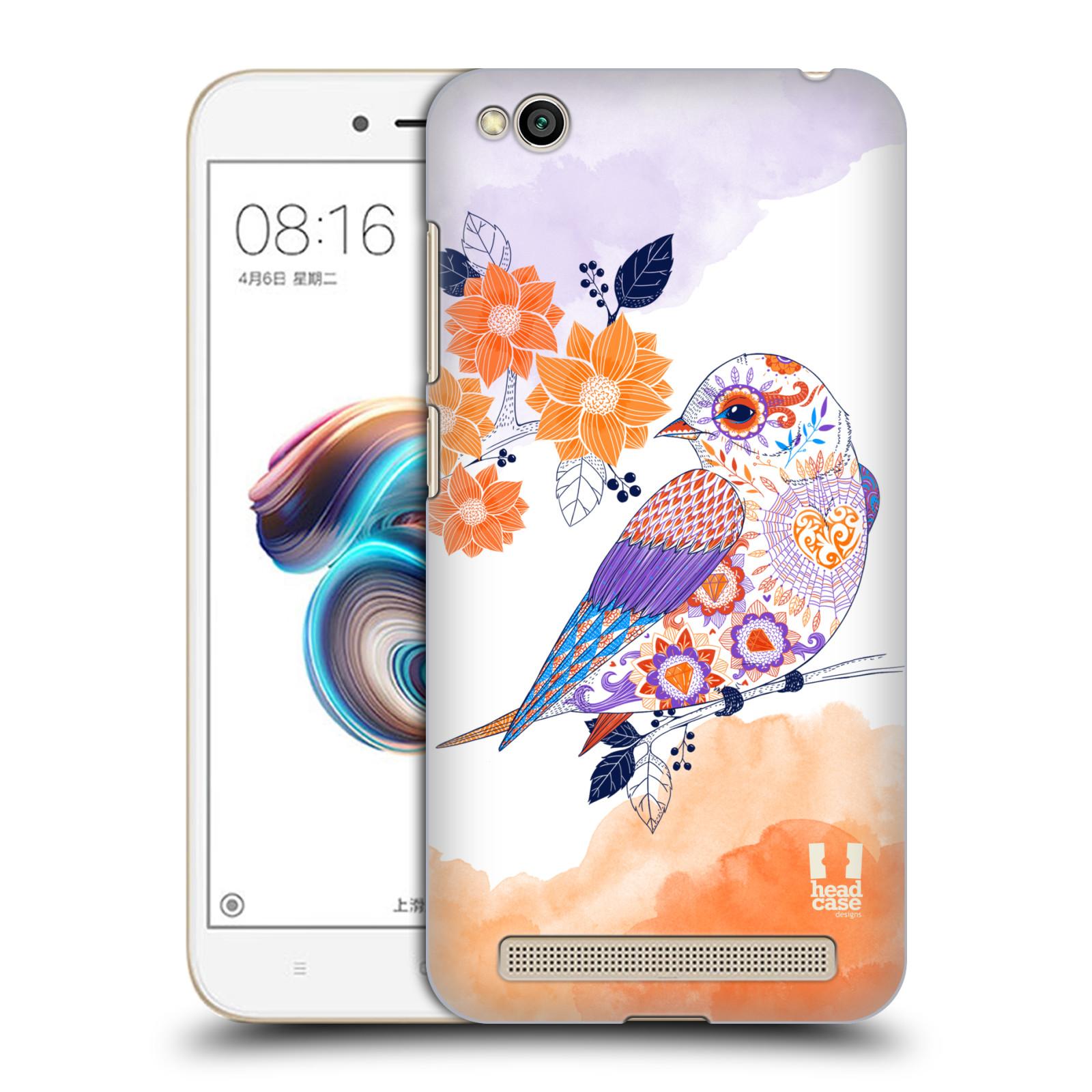 Plastové pouzdro na mobil Xiaomi Redmi 5A - Head Case - PTÁČEK TANGERINE