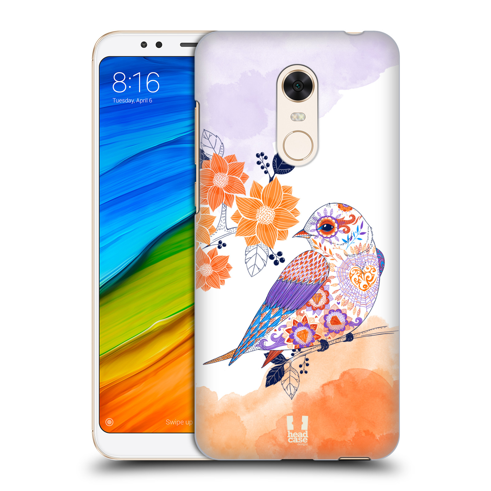 Plastové pouzdro na mobil Xiaomi Redmi 5 Plus - Head Case - PTÁČEK TANGERINE