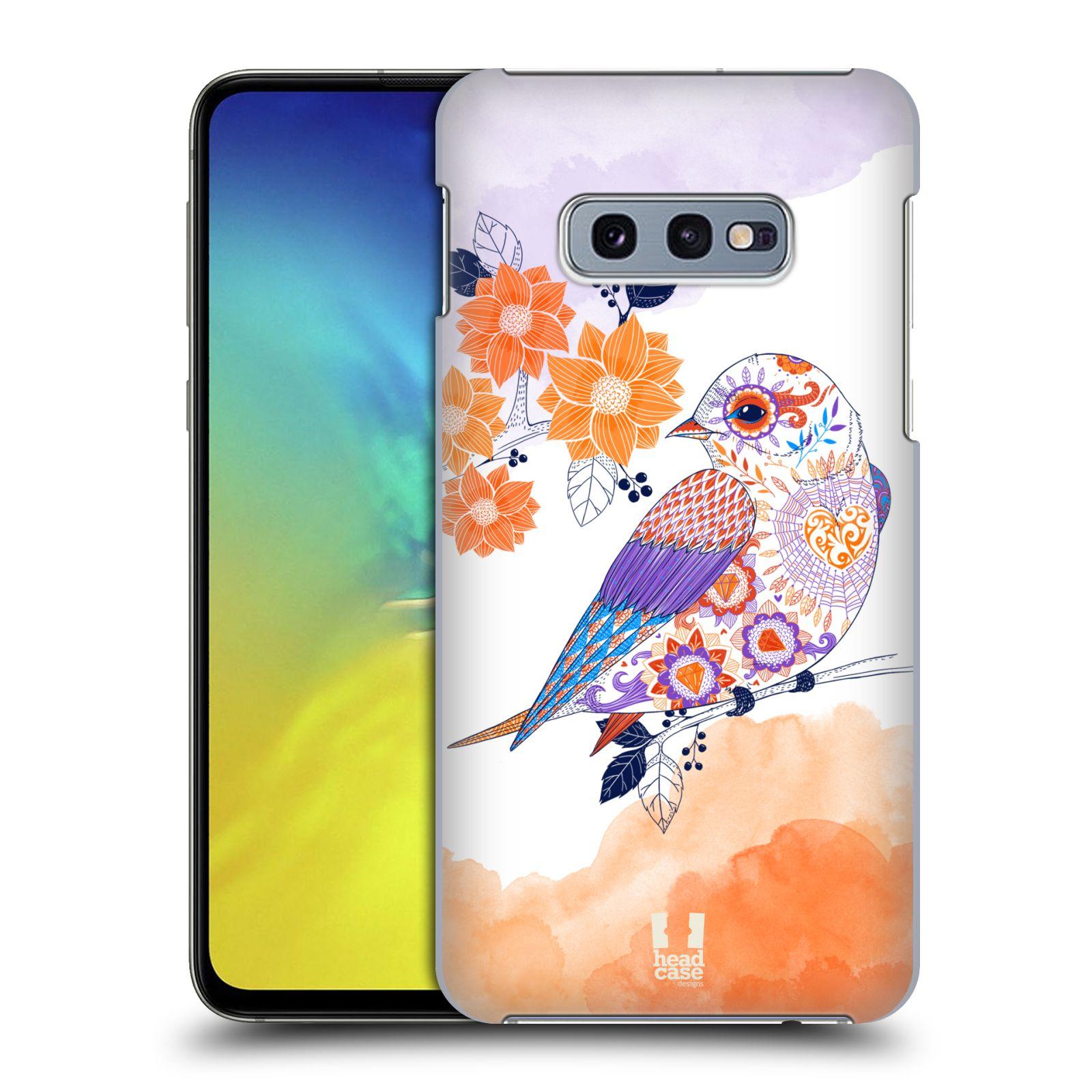 Plastové pouzdro na mobil Samsung Galaxy S10e - Head Case - PTÁČEK TANGERINE