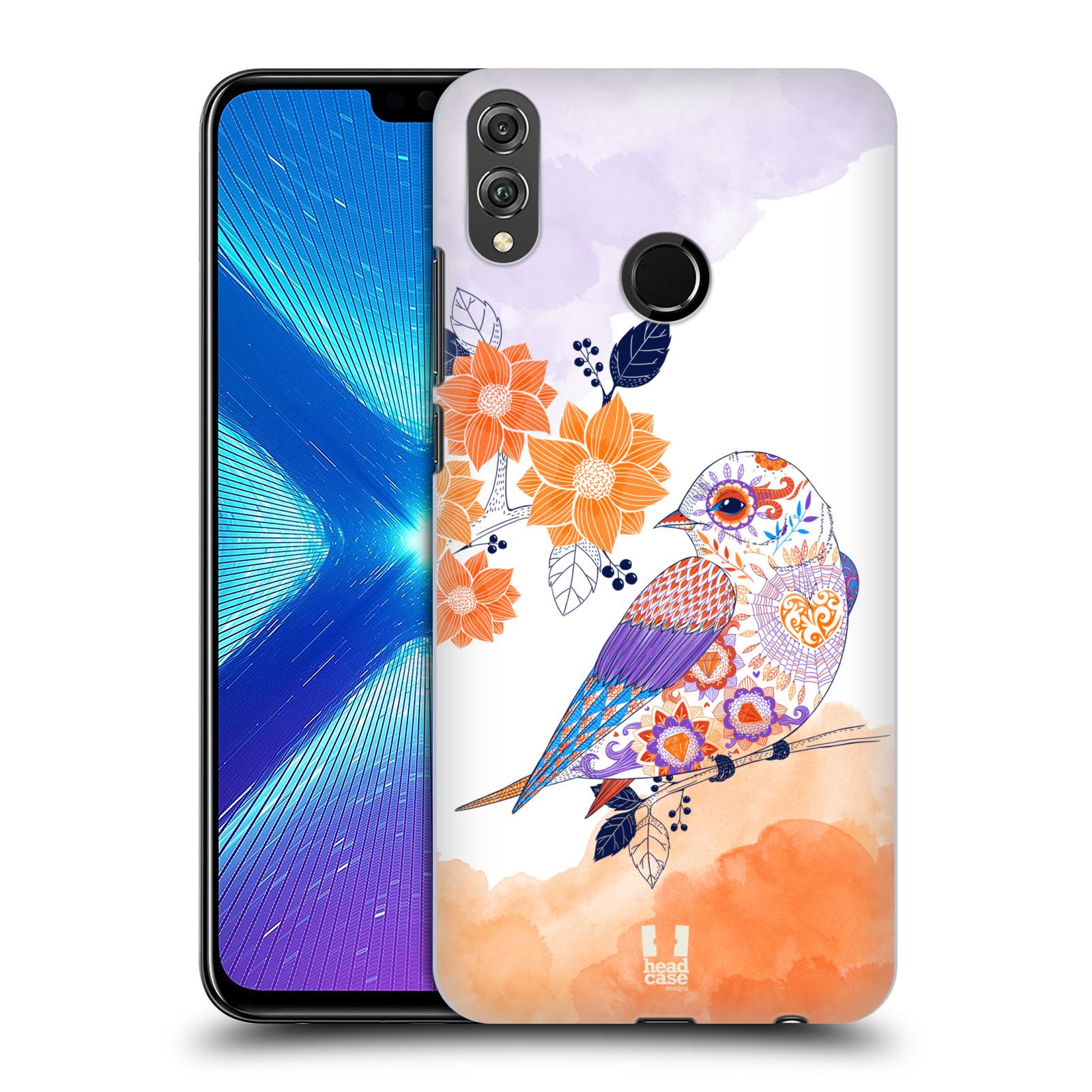 Plastové pouzdro na mobil Honor 8X - Head Case - PTÁČEK TANGERINE