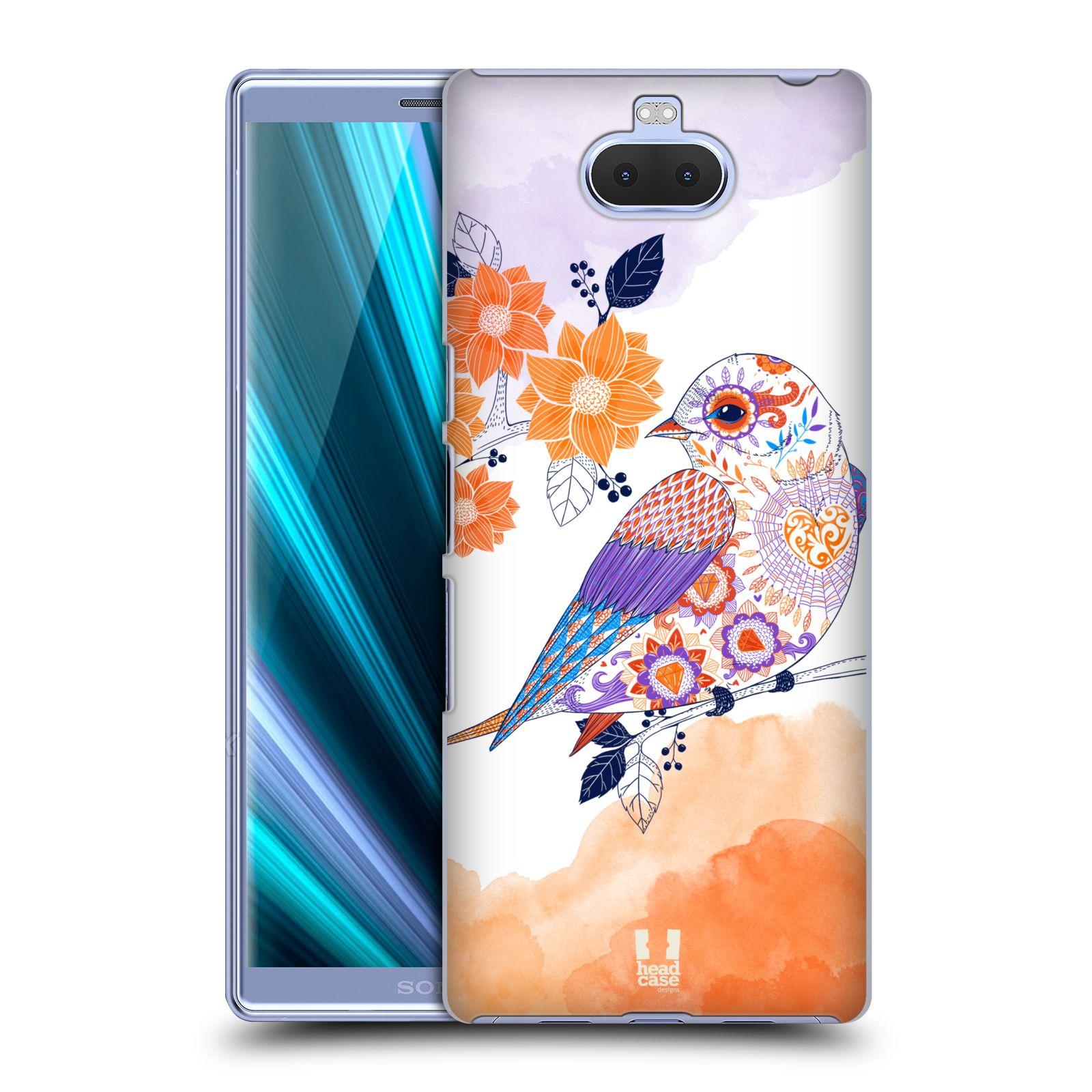 Plastové pouzdro na mobil Sony Xperia 10 Plus - Head Case - PTÁČEK TANGERINE
