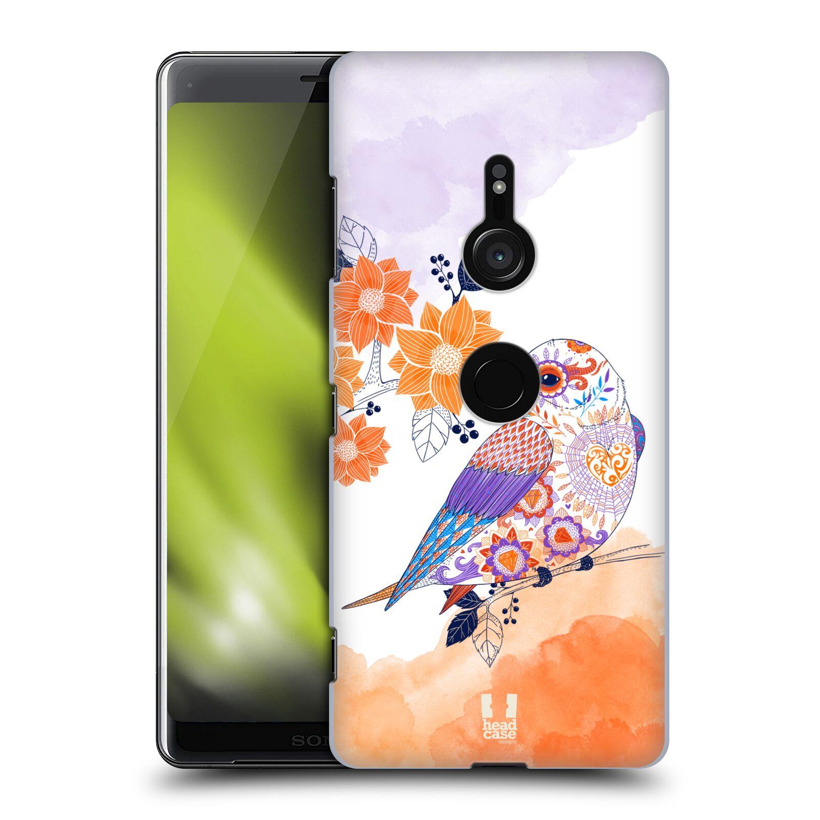 Plastové pouzdro na mobil Sony Xperia XZ3 - Head Case - PTÁČEK TANGERINE