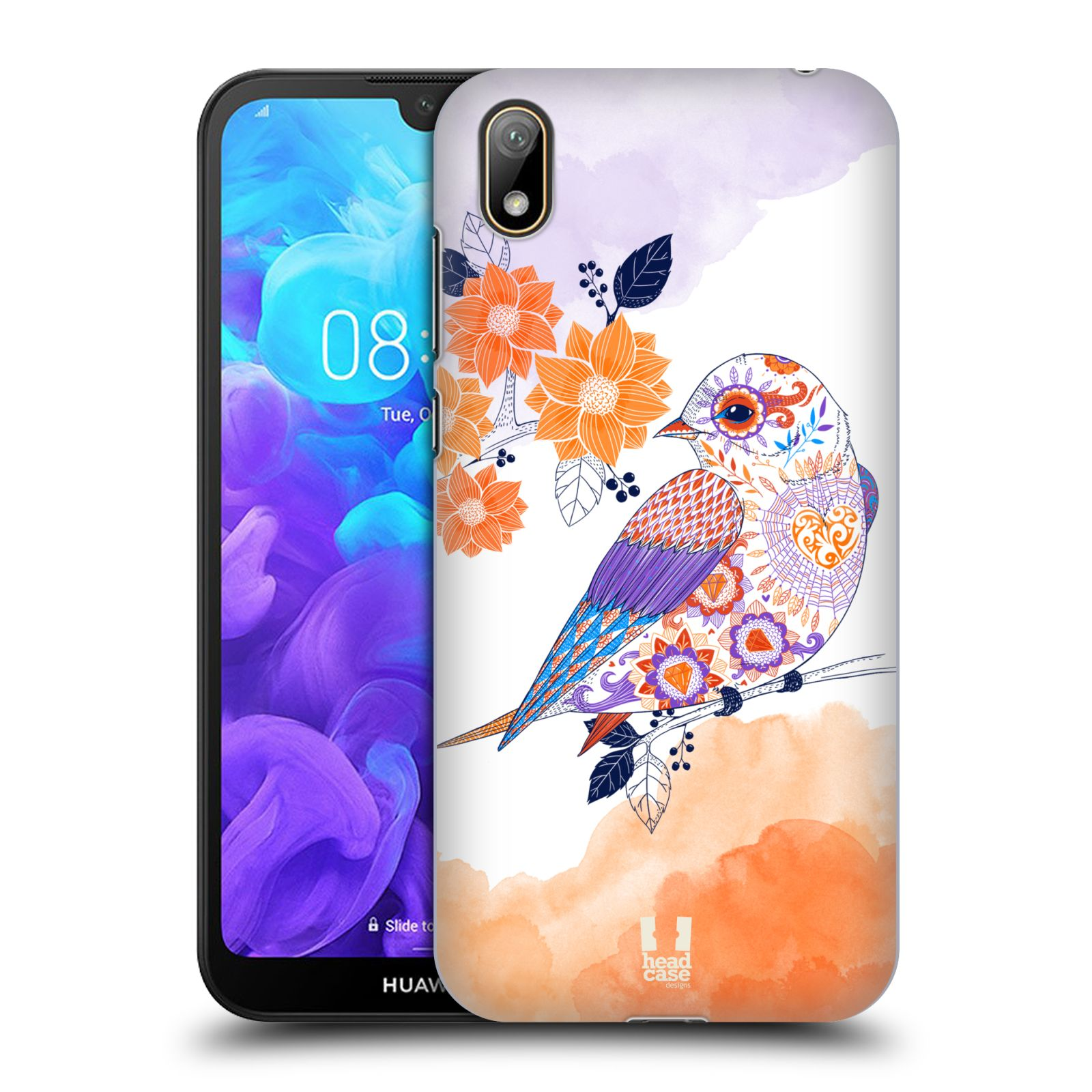 Plastové pouzdro na mobil Honor 8S - Head Case - PTÁČEK TANGERINE